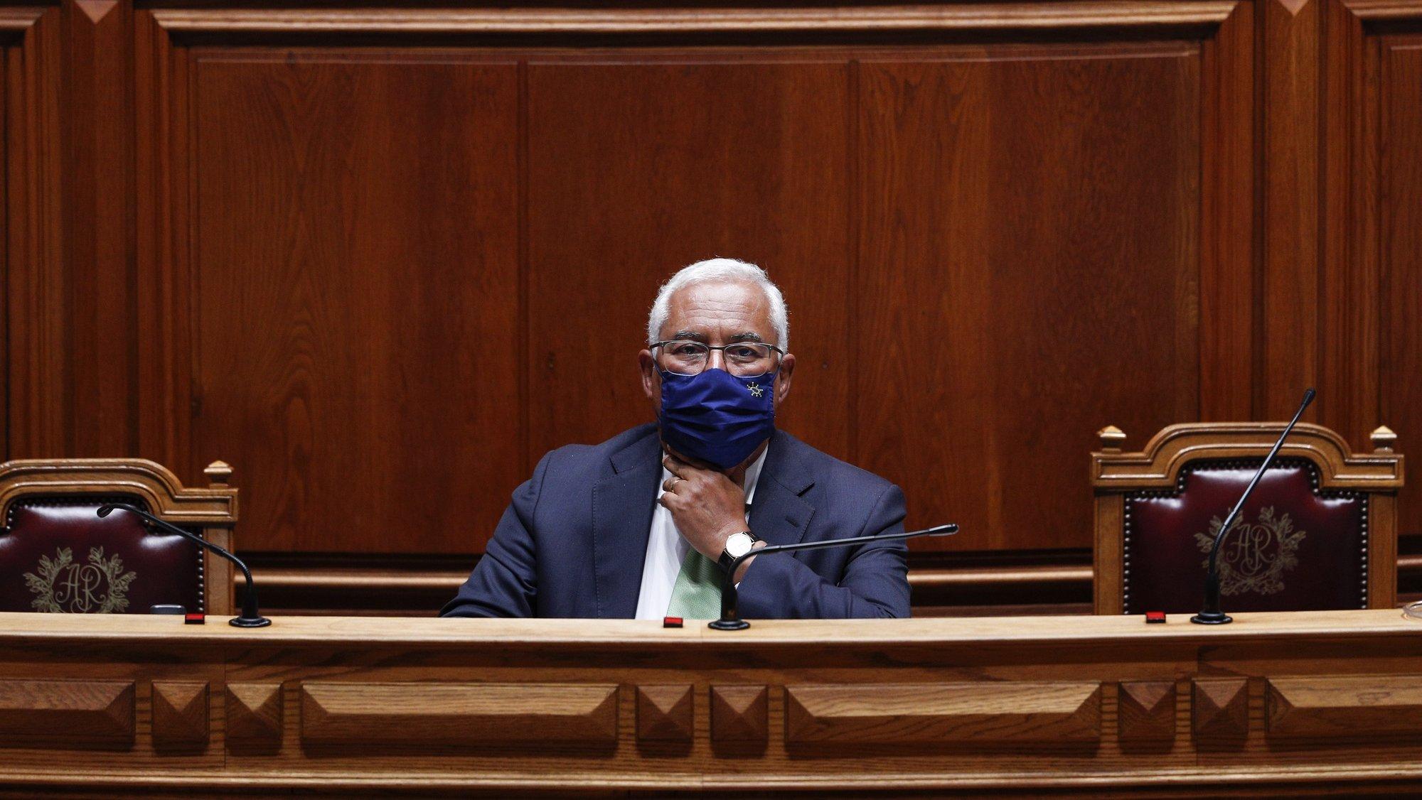 O primeiro-ministro, António Costa, durante o debate parlamentar sobre o estado da Nação, na Assembleia da República, em Lisboa, 21 de julho de 2021. ANTÓNIO COTRIM/LUSA