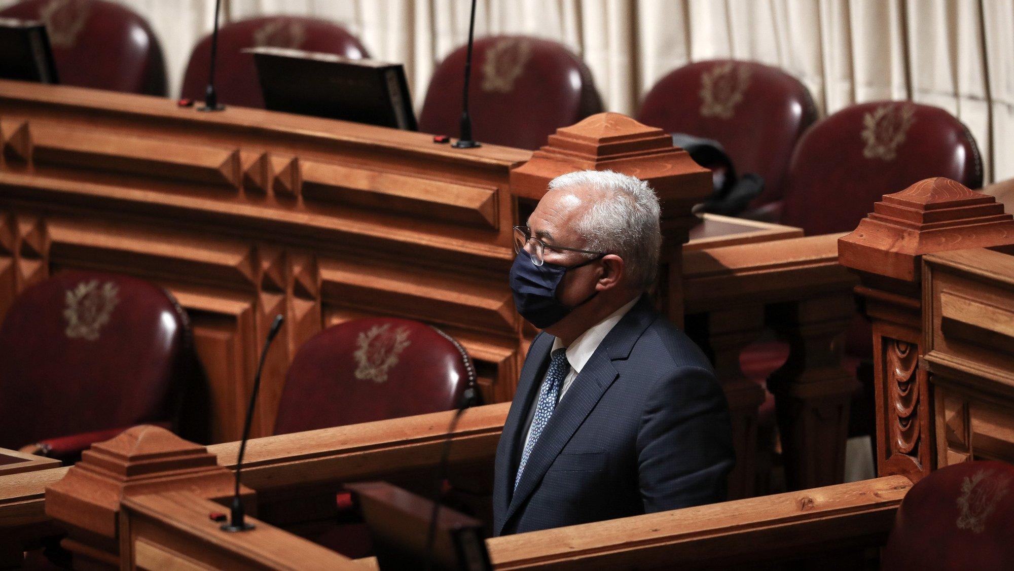 O primeiro-ministro, António Costa, participa no debate parlamentar sobre a participação de Portugal na Cooperação Estruturada Permanente, na Assembleia da República, em Lisboa, 17 de março de 2021. MÁRIO CRUZ/LUSA