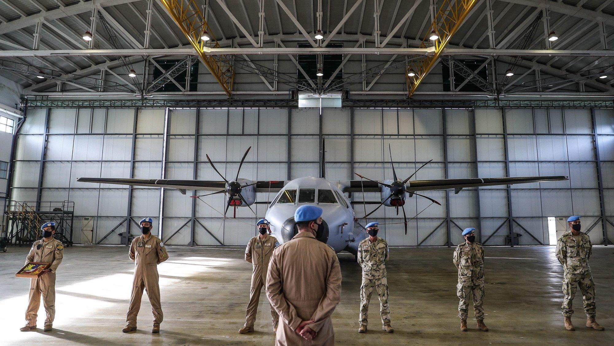 Cerimónia de regresso da Força Nacional Destacada que integrou nos últimos 6 meses a Missão Multidimensional Integrada das Nações Unidas para a Estabilização do Mali (MINUSMA), na Base Aérea nº 6, Montijo, 31 de dezembro de 2020.  MÁRIO CRUZ/LUSA