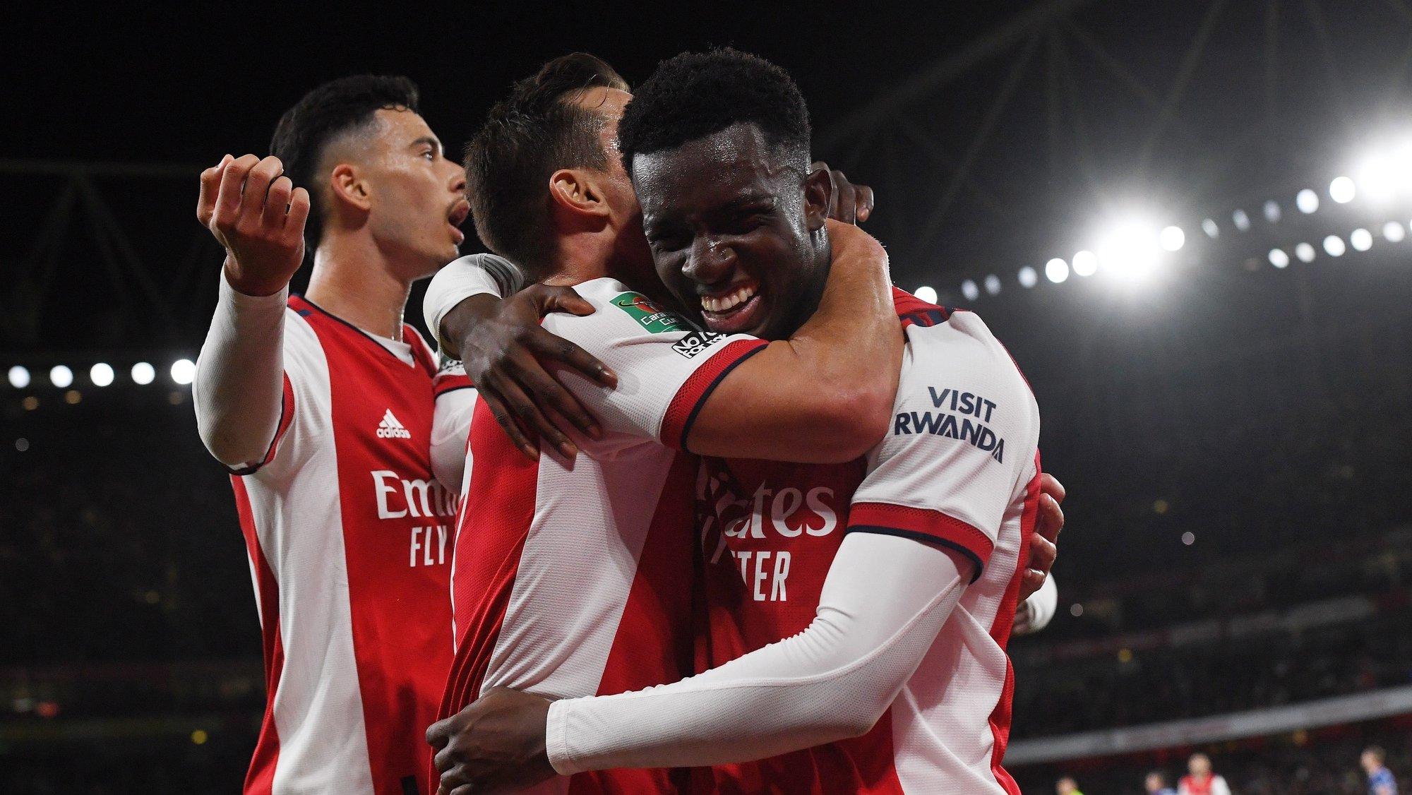Nketiah, Cedric, Martinelli, jogadores do Arsenal