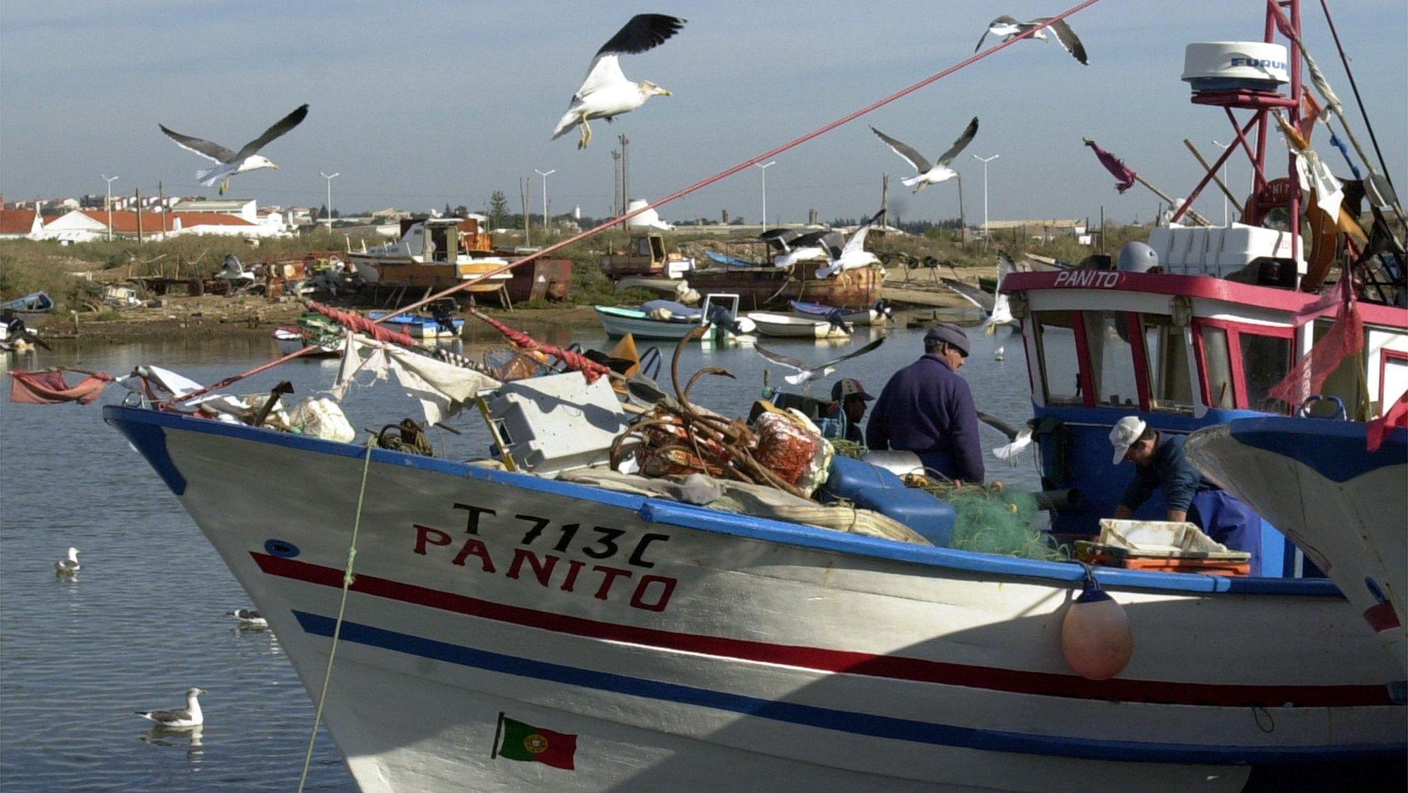 2000/12/11: TAVIRA: BARCOS DE PESCA NO RIO GILÃO.