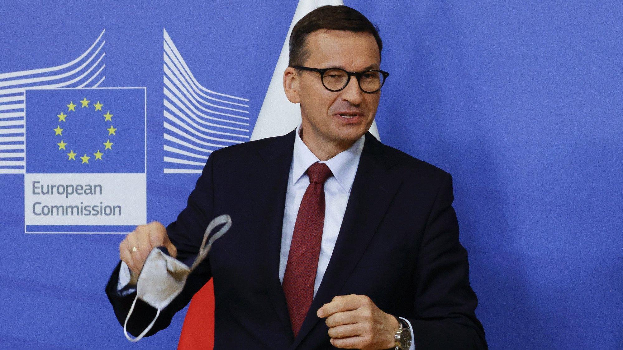 Primeiro ministro polaco Mateusz Morawiecki