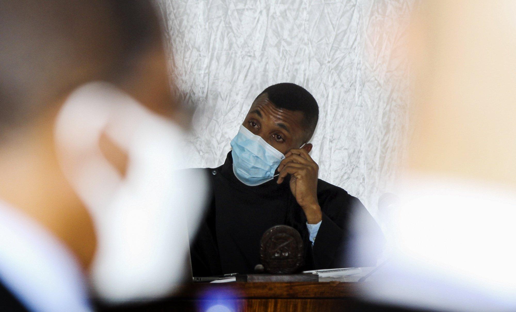 Efigénio Baptista, juíz do caso das 'dívidas ocultas', Maputo, Moçambique, 23 de agosto de 2021. O Tribunal Judicial da Cidade de Maputo começou hoje o julgamento de 19 arguidos acusados de envolvimento no caso das 'dívidas ocultas', um esquema que envolveu altas figuras do Estado moçambicano, bancos internacionais e estaleiros navais (ACOMPANHA TEXTO) LUCAS MENESES/LUSA