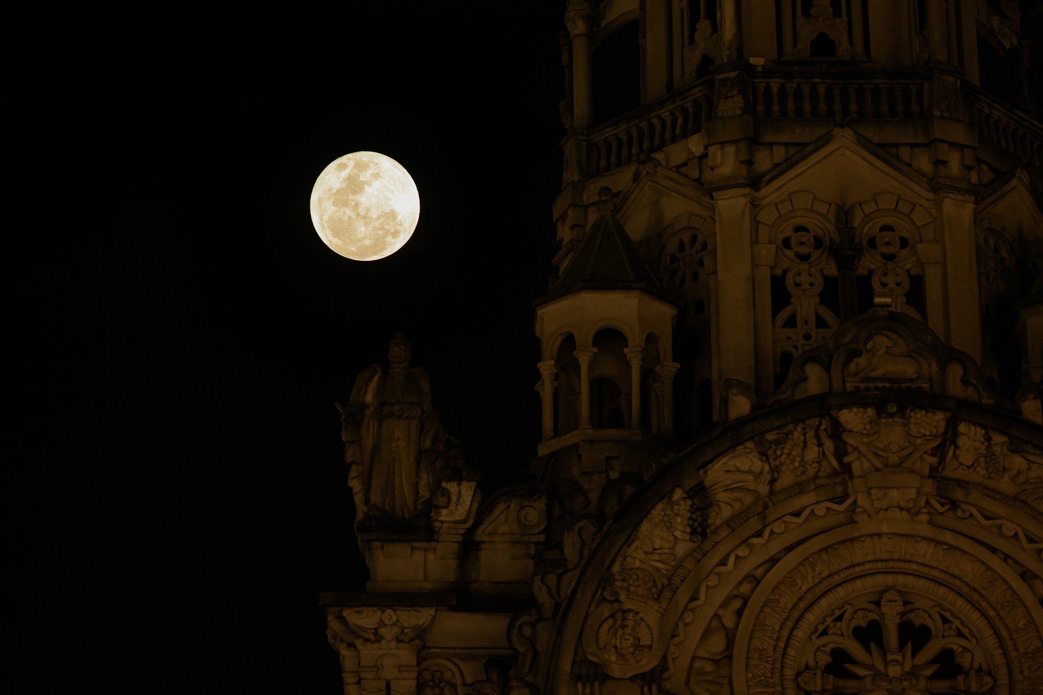 Last Super Moon 2021 Strawberry Moon Over Brazil's Sky