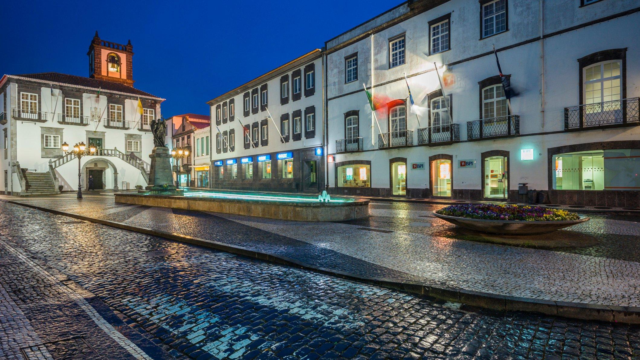 Azores, Sao Miguel Island, Ponta Delgada, town hall