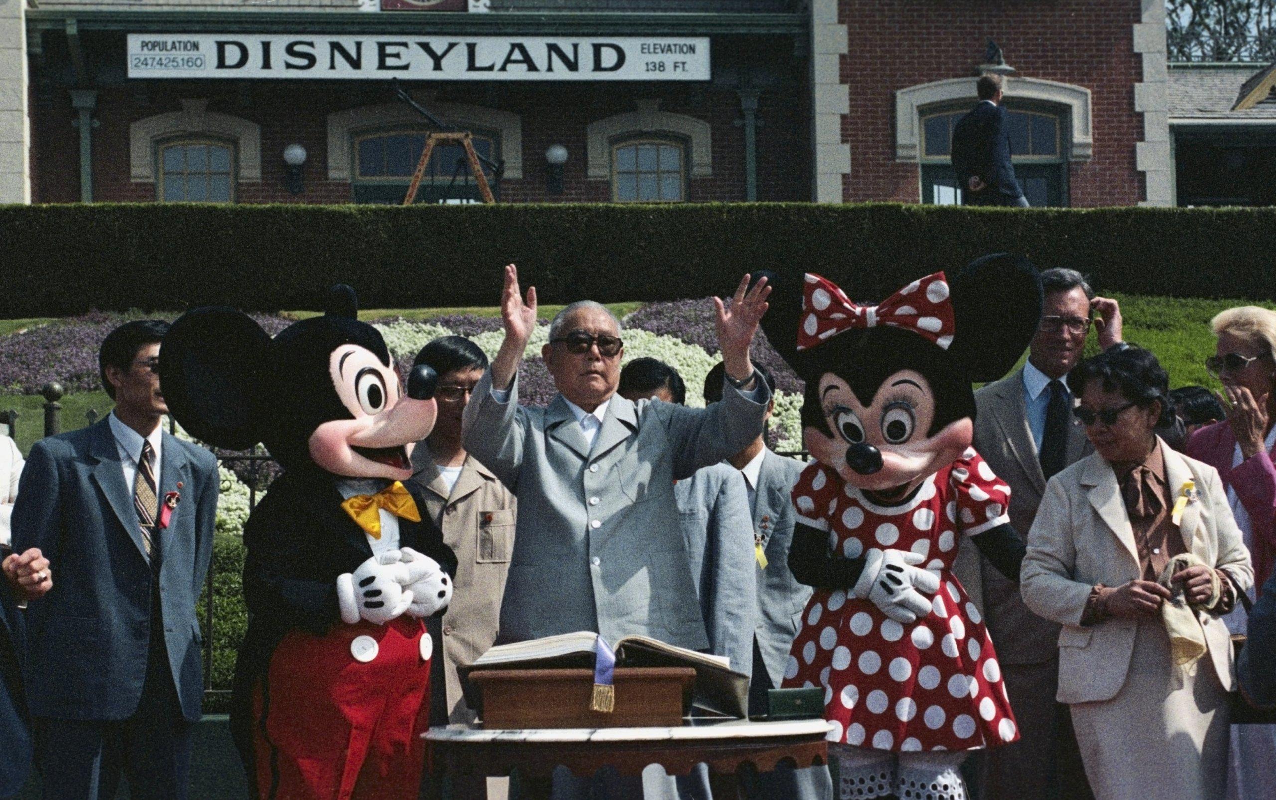 Chinese President at Disneyland