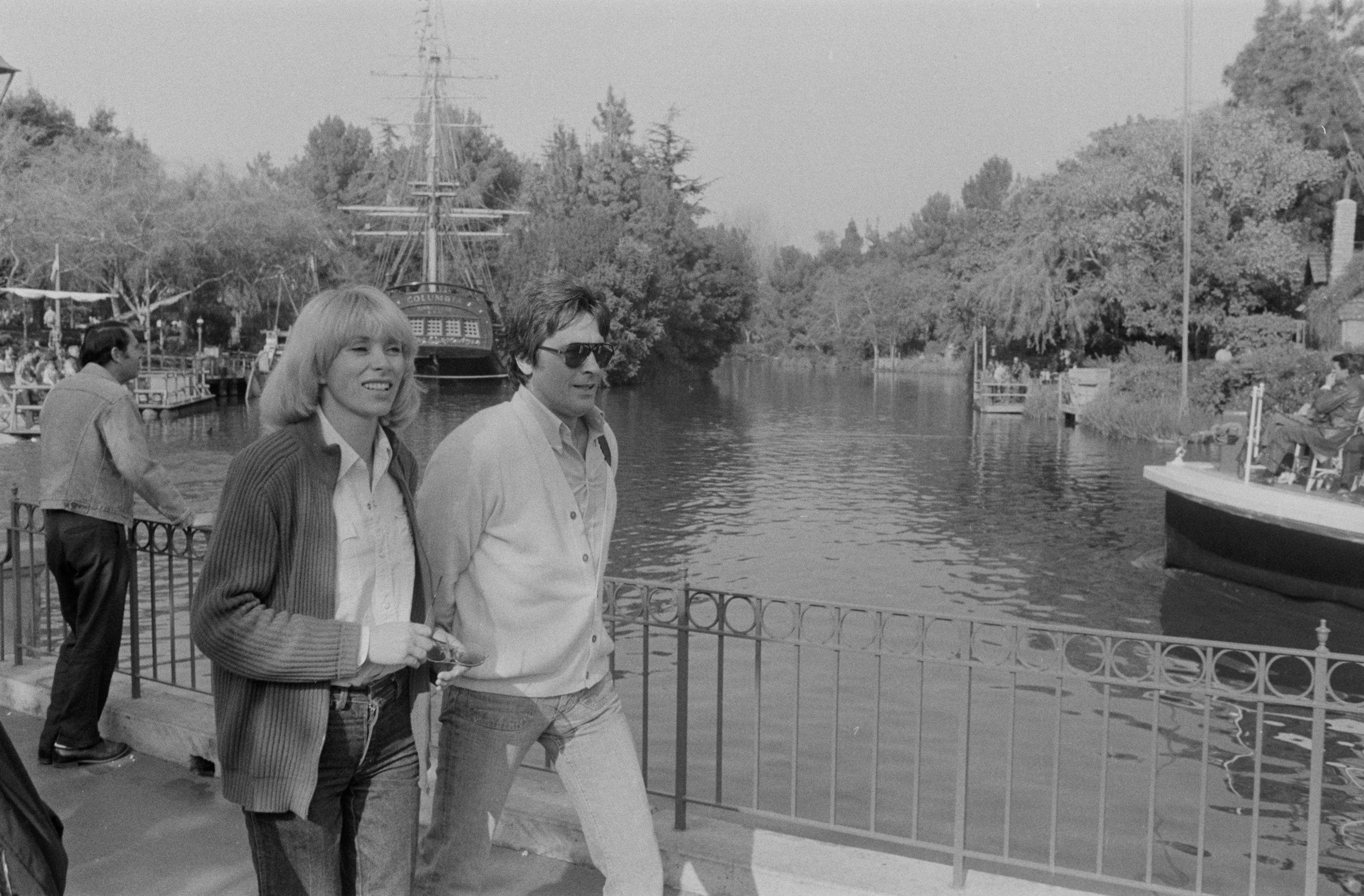 Alain Delon et Mireille Darc en Californie en 1979