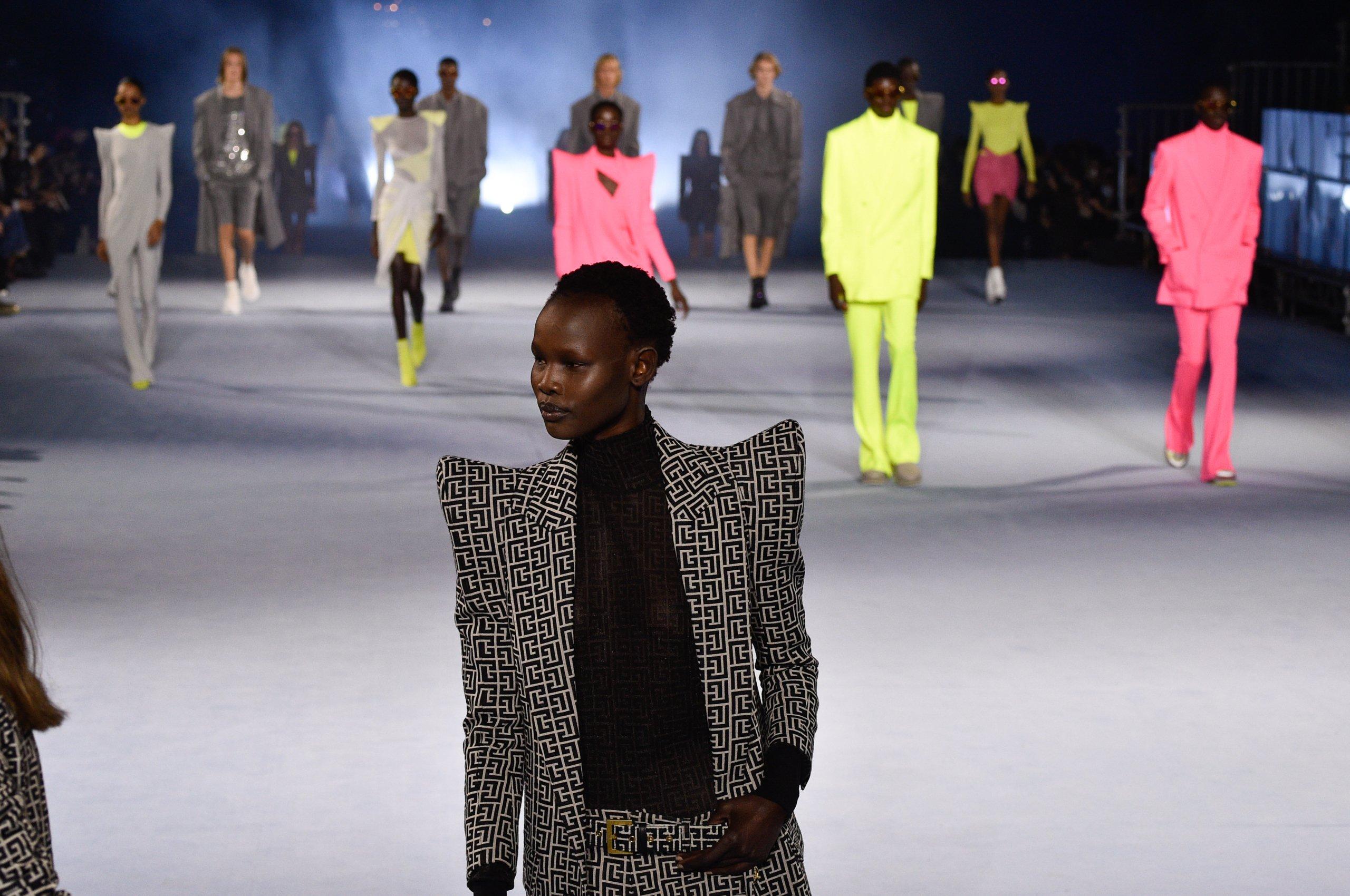 Balmain : Runway - Paris Fashion Week - Womenswear Spring Summer 2021