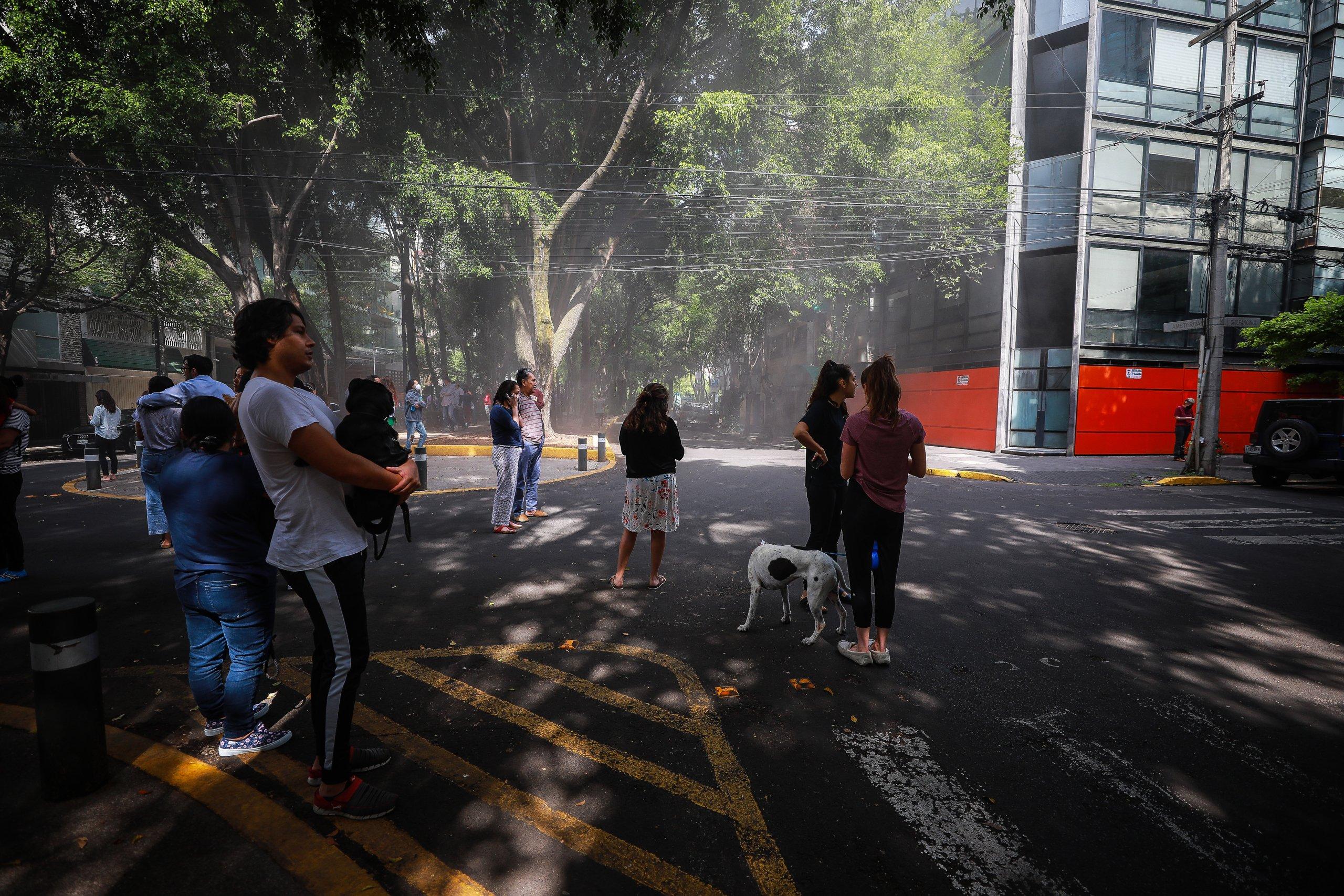 Magnitude 7.5 Earthquake Hits Mexico City