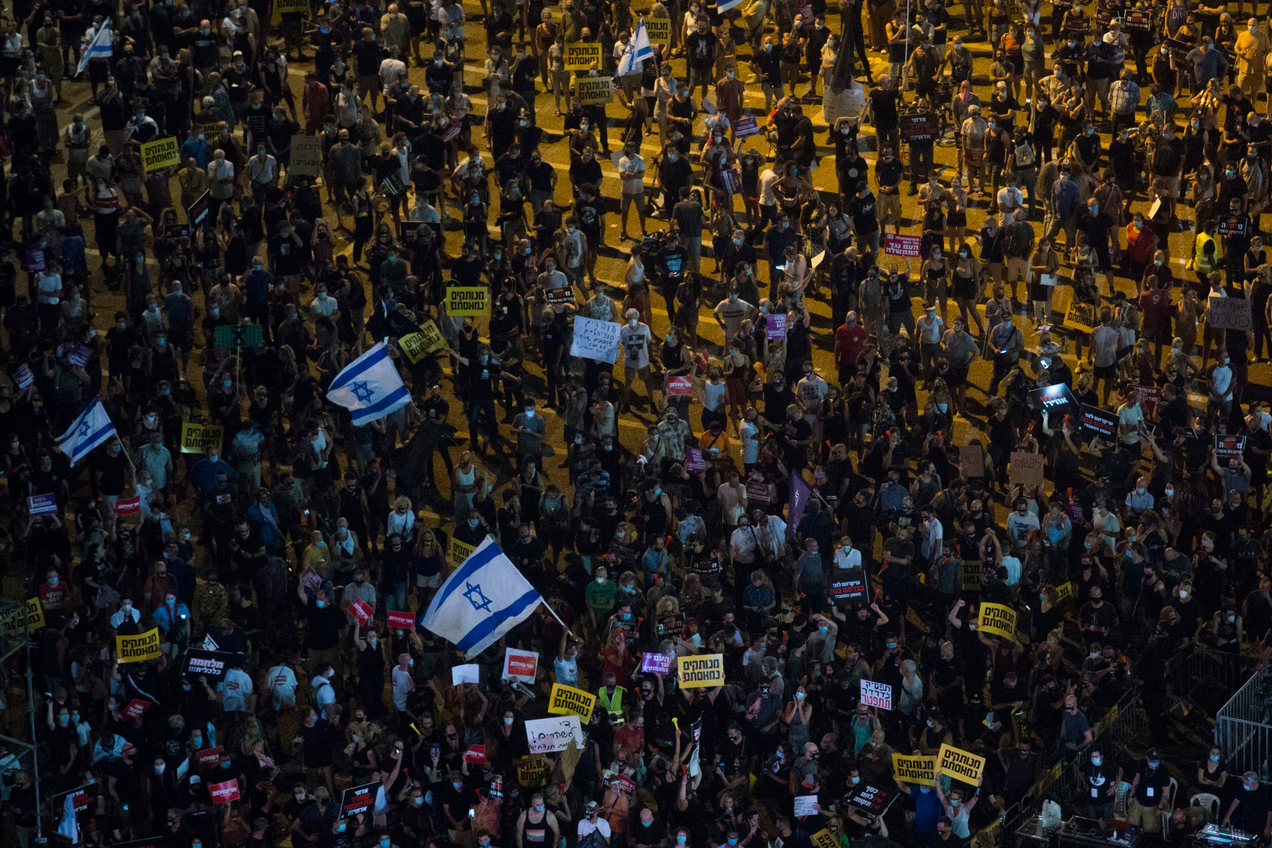 Protests Over Economy Continue As Israel Sees Spike In Coronavirus Cases