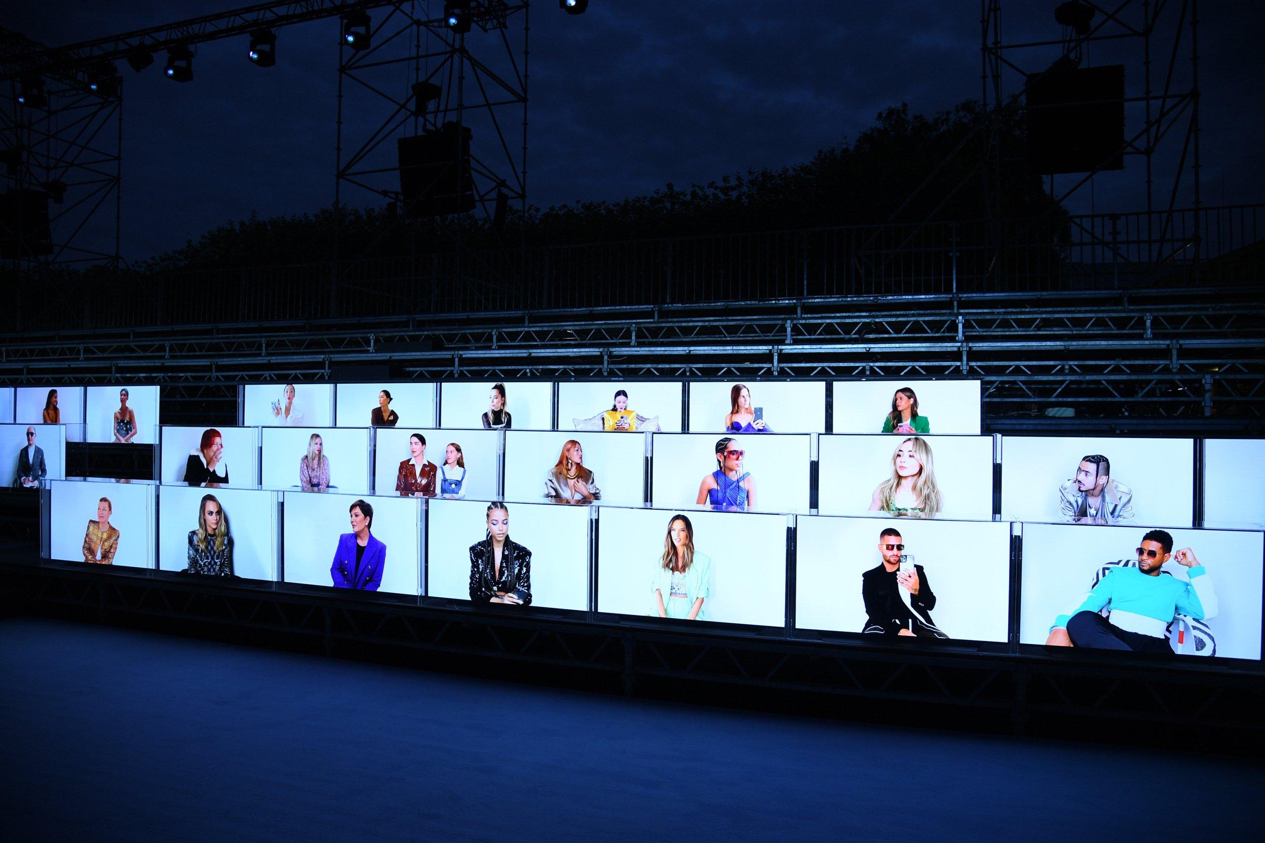 Balmain : Front Row -  Paris Fashion Week - Womenswear Spring Summer 2021
