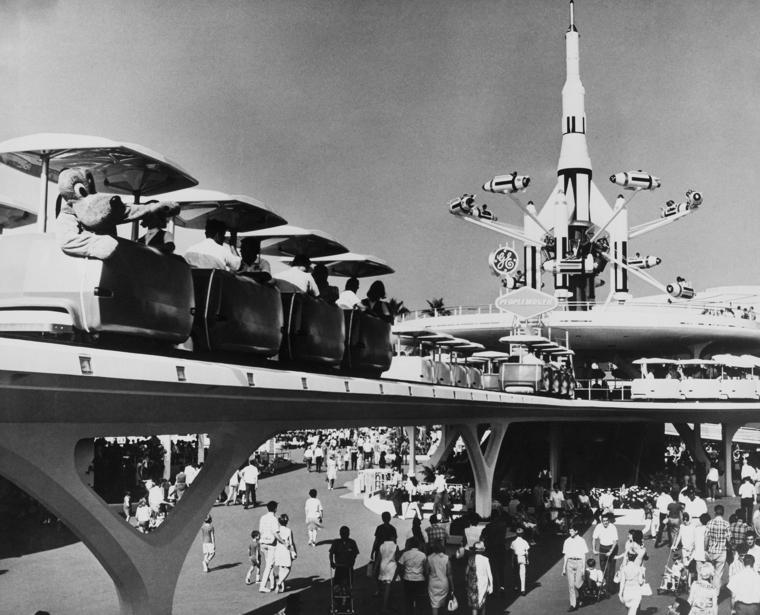 Tomorrowland, People Mover At Disneyland Park In California