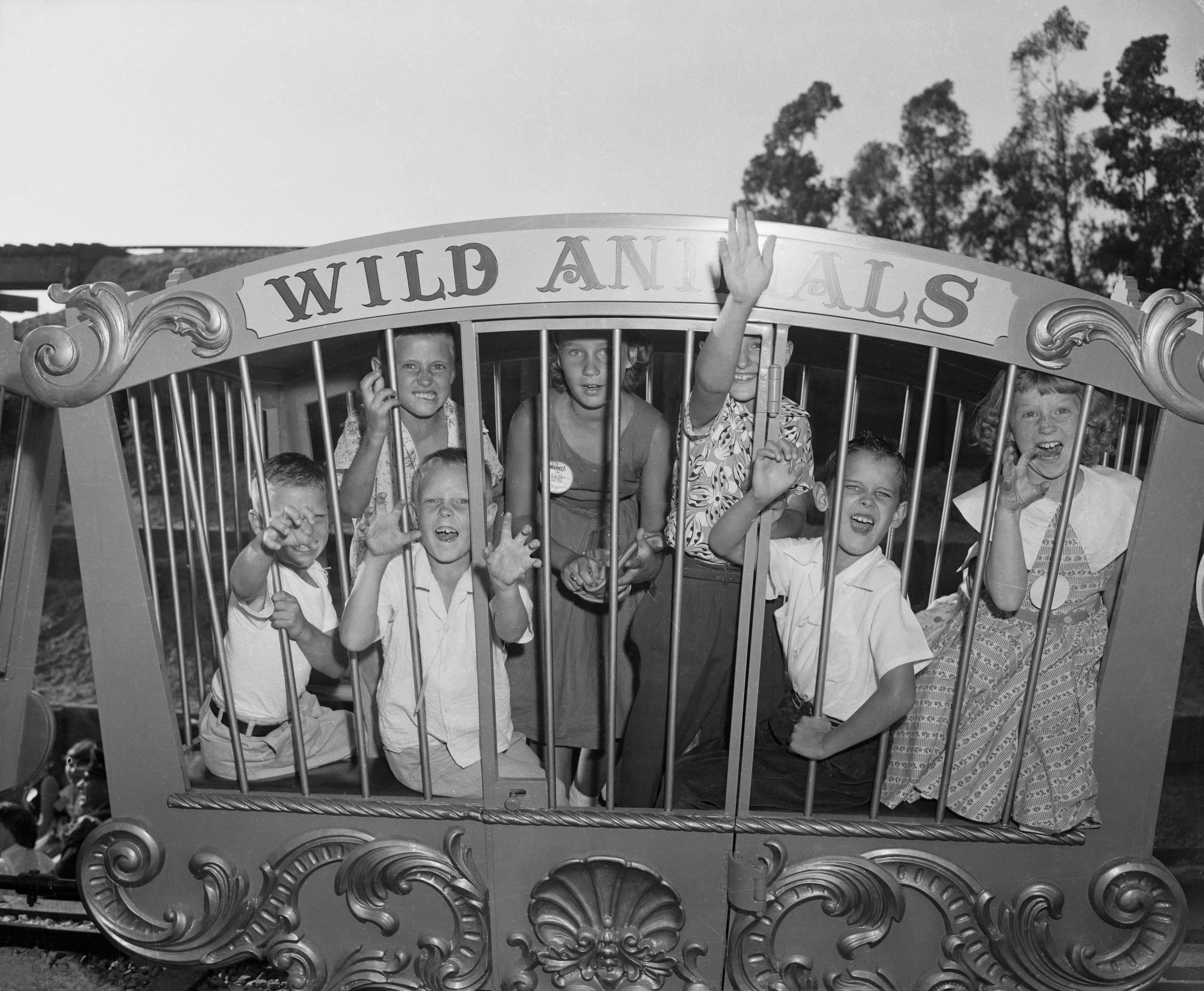 Children (6-9) at Disneyland Opening
