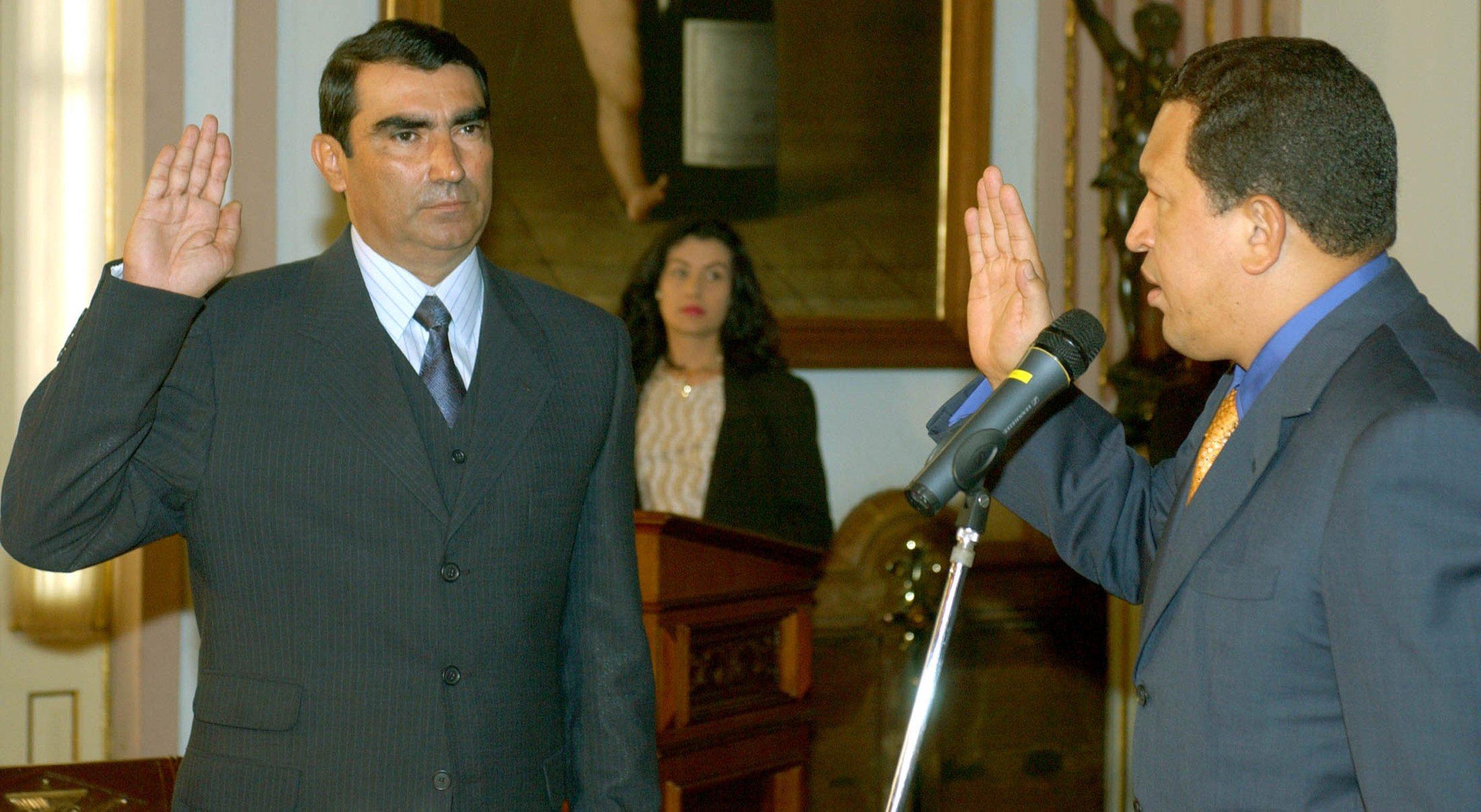 Venezuelan President Hugo Chavez Swears In General Rincon