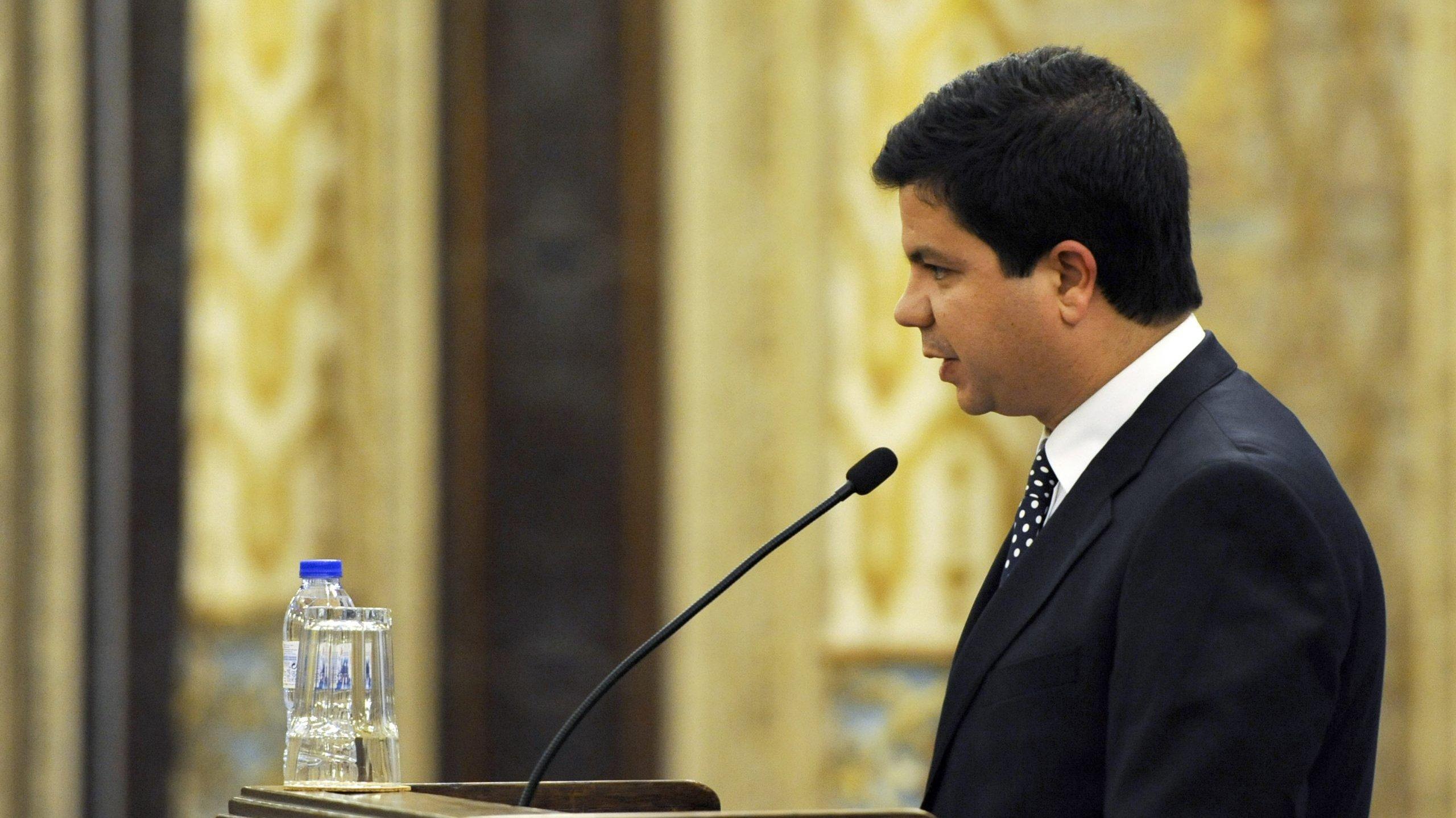 Ministro da Economia, António Pires de Lima, na assembleia geral da Associação Comercial do Porto
