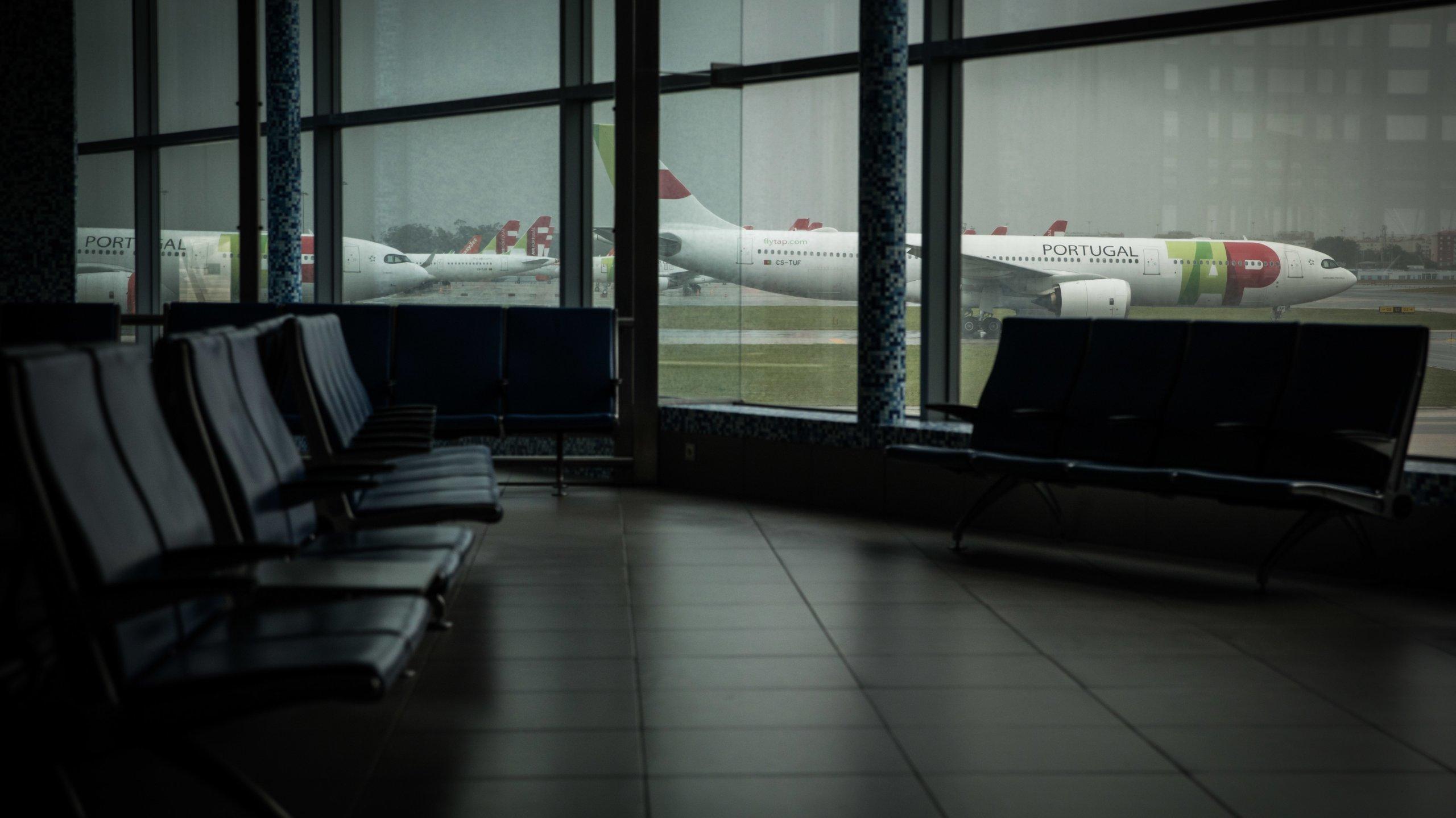 Aeroporto de Lisboa durante a pandemia