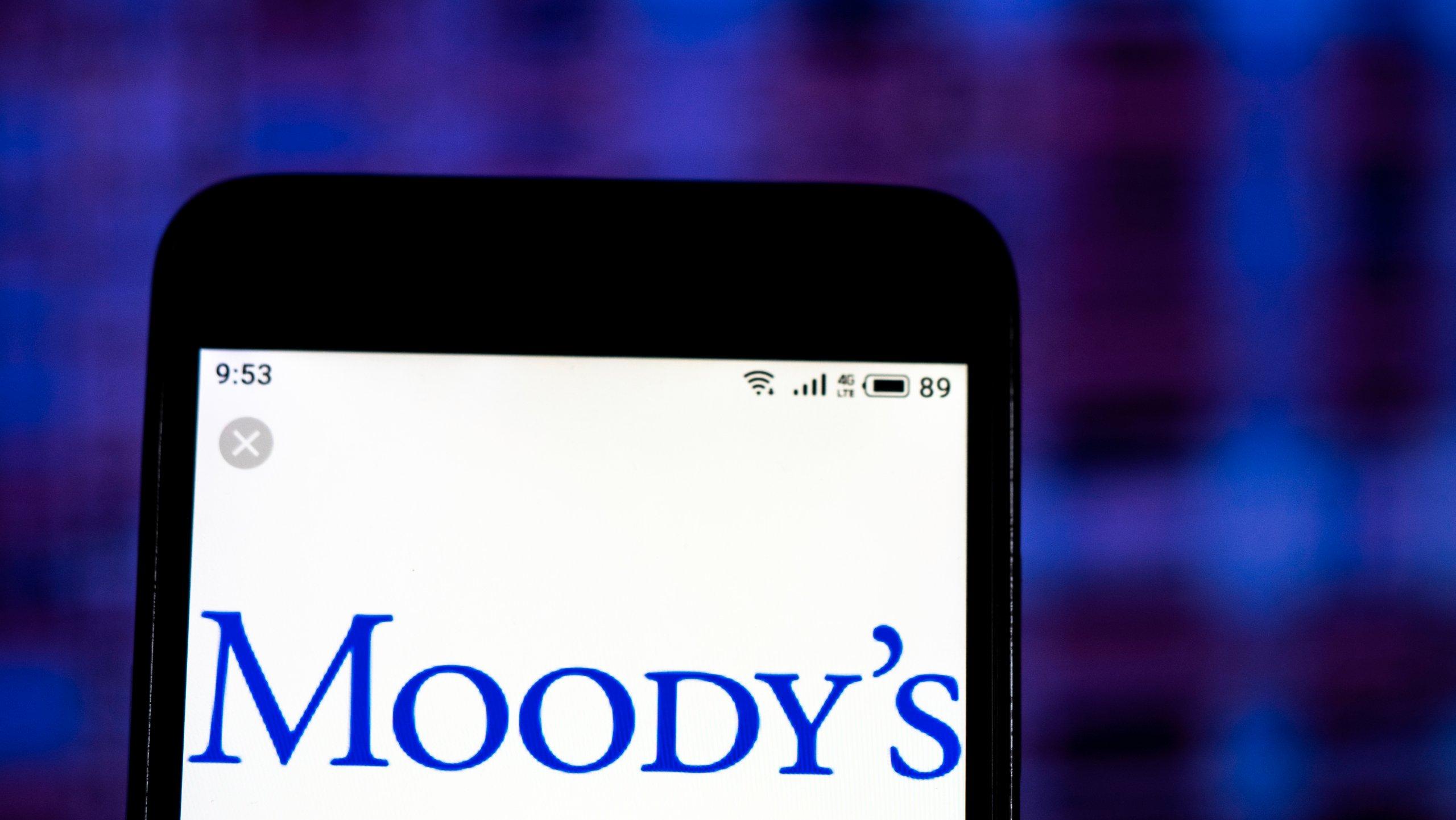 Moody's Corporation Financial services company logo seen