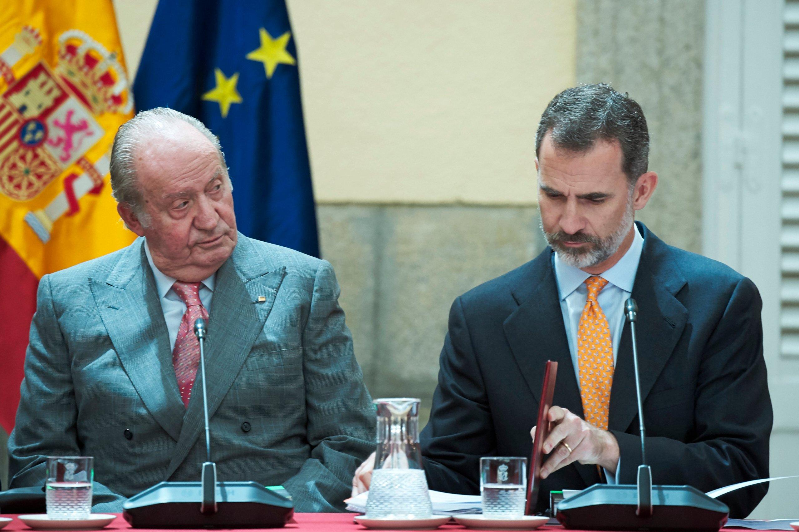 King Felipe Of Spain And King Juan Carlos Attend COTEC Meeting