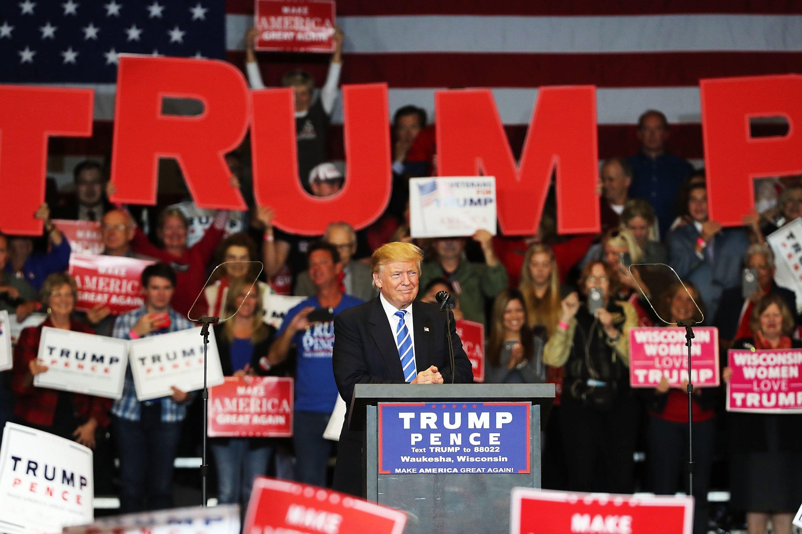 Donald Trump Campaigns In Wisconsin