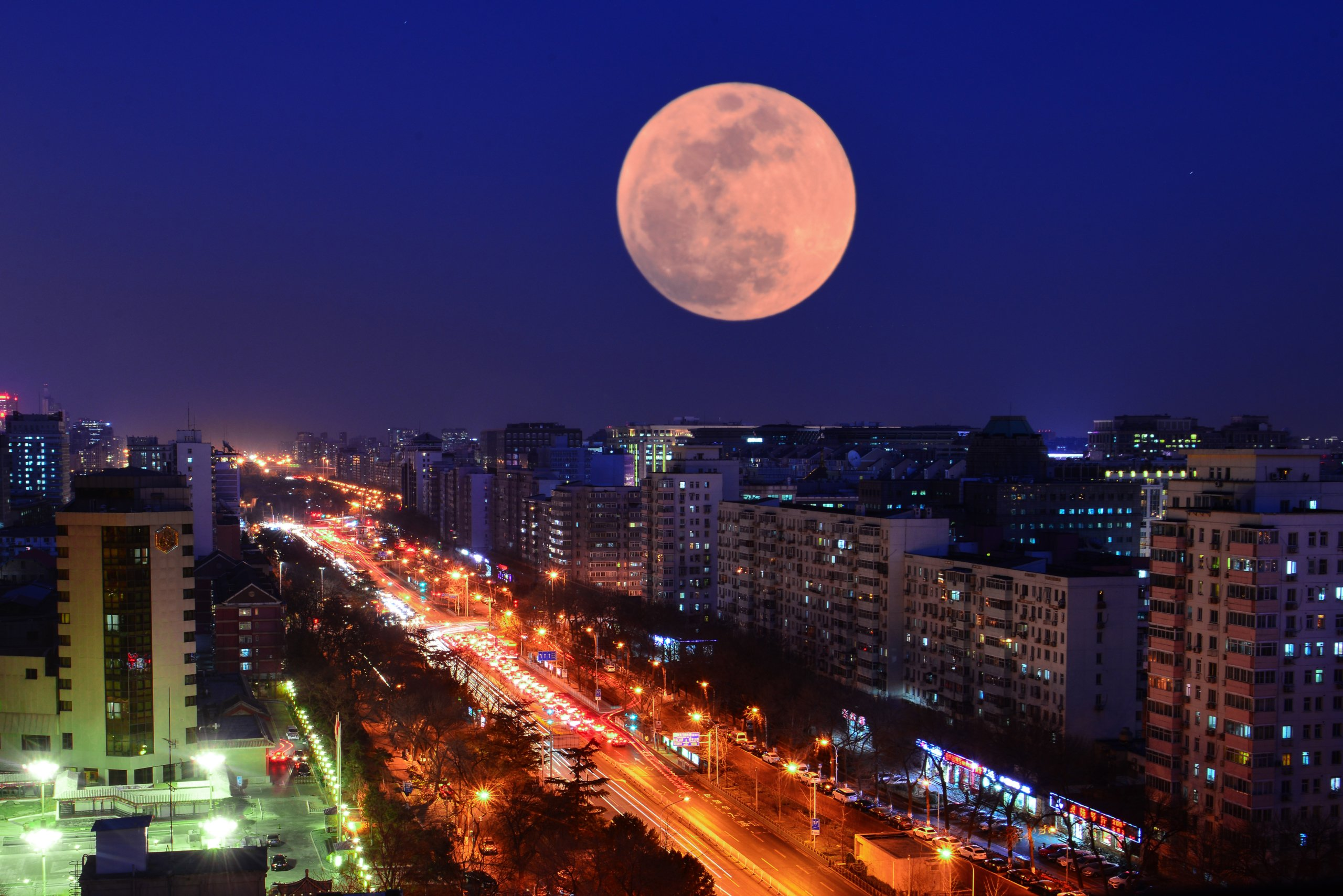Super Blue Blood Moon Seen From China