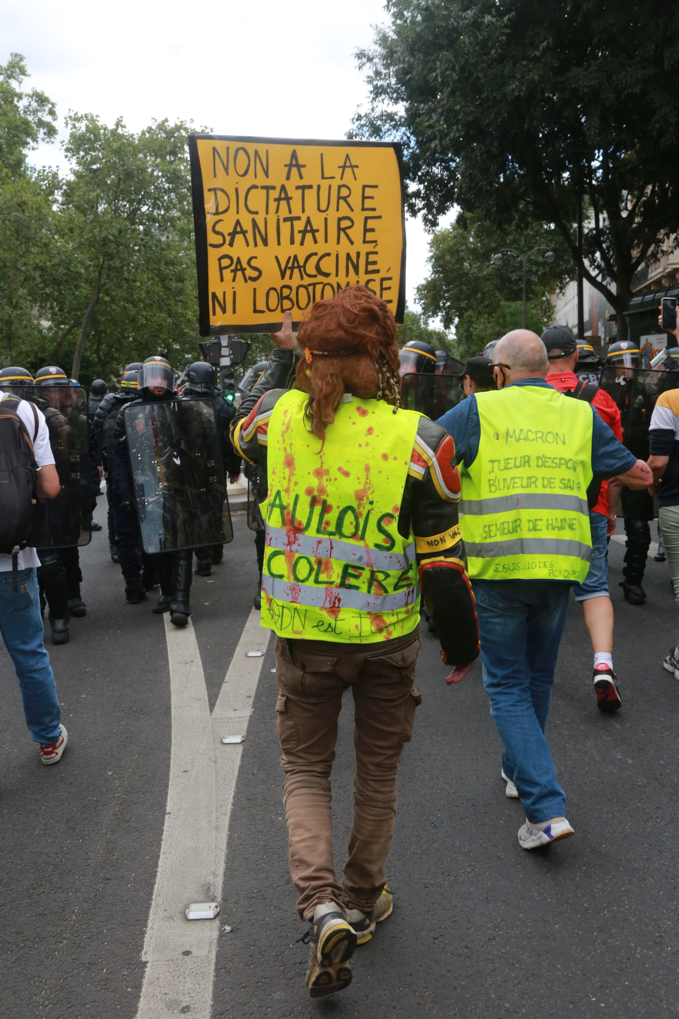 Protesters Hold An Anti-Covid Rule Demonstration In Paris