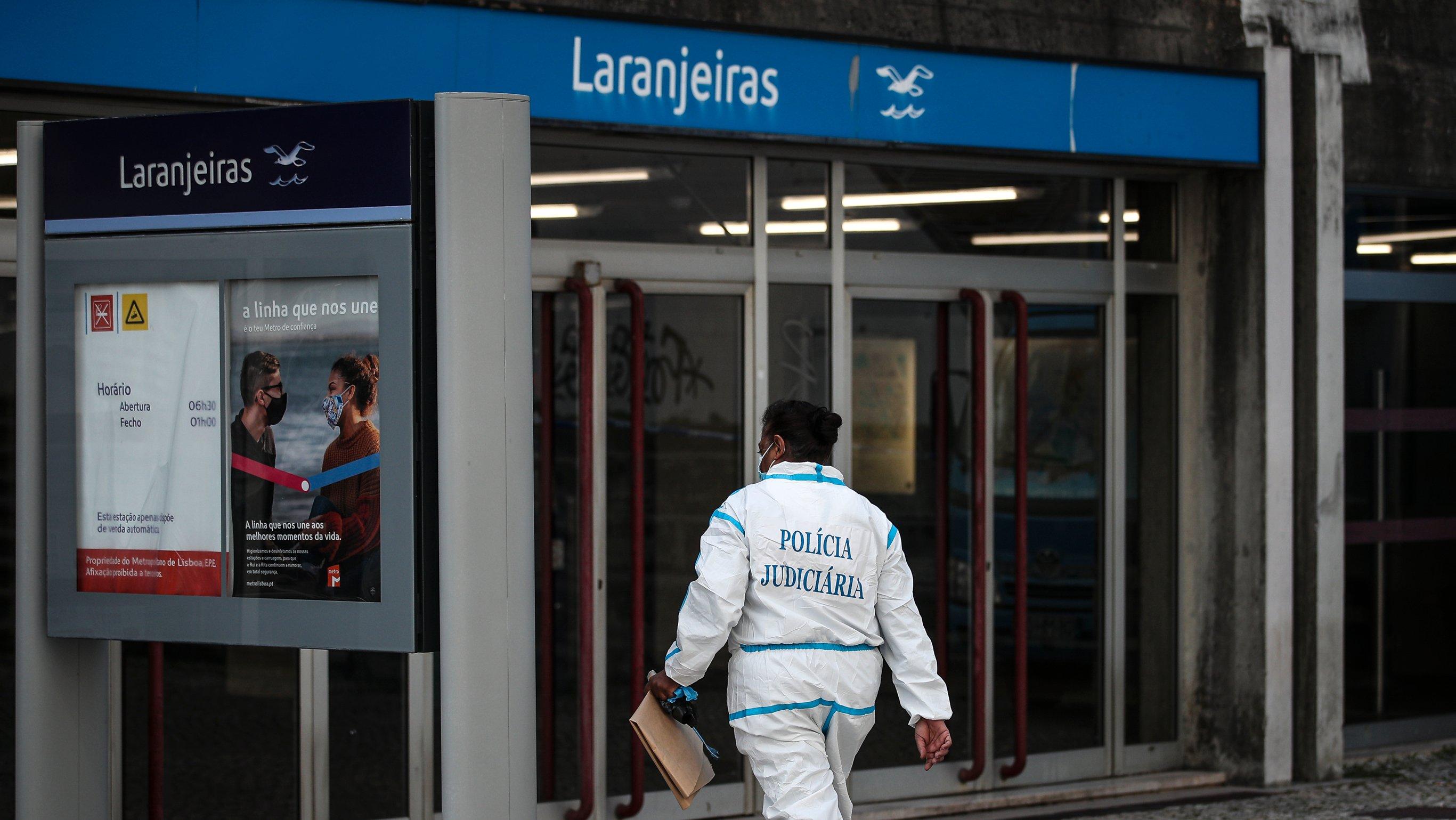 Homicídio de jovem no metro nas Laranjeiras. Lisboa, 20 de Outubro de 2021. FILIPE AMORIM/OBSERVADOR