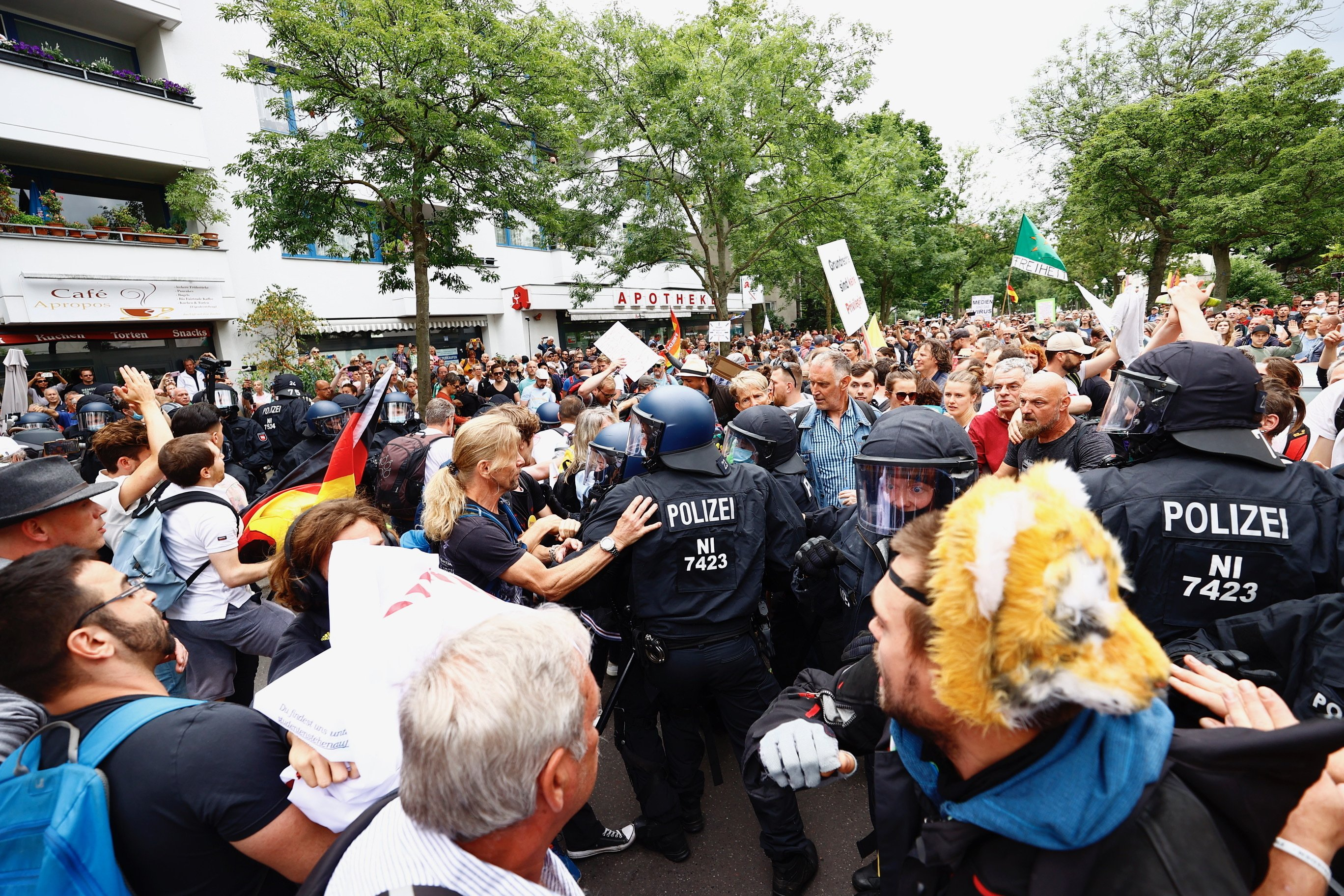 Anti coronavirus vaccine protest in Berlin