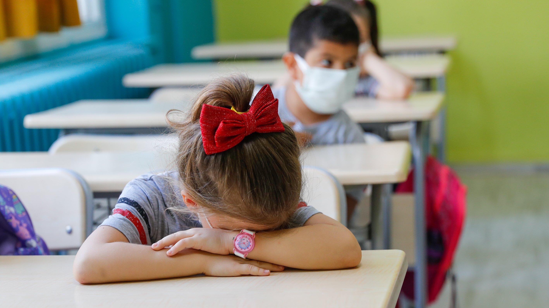 Pre-school and first grades students start school in Turkey