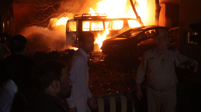 Blast in parking lot of luxury hotel in Quetta, Pakistan