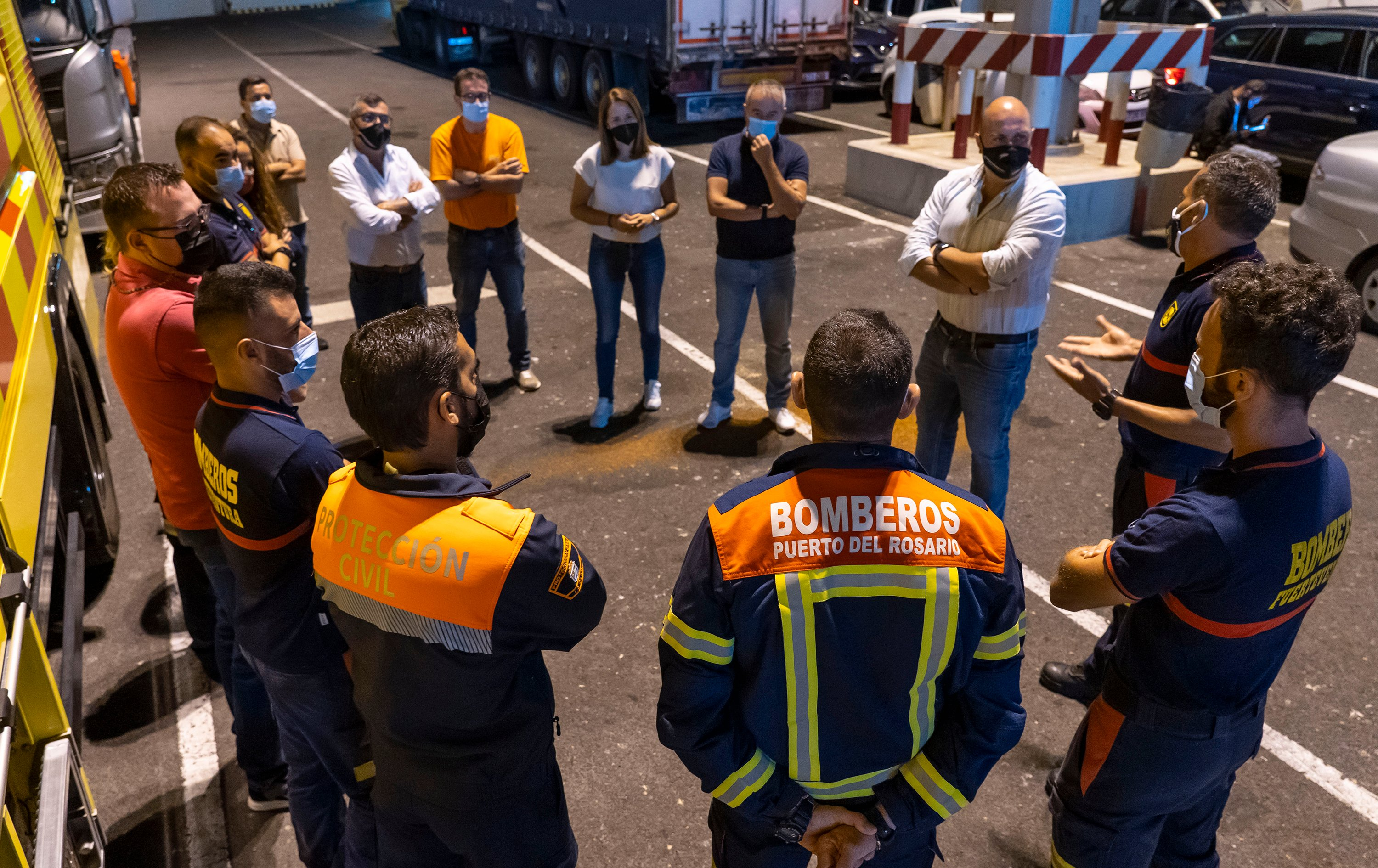 A Fire Brigade Leaves For La Palma To Help In Emergency Work