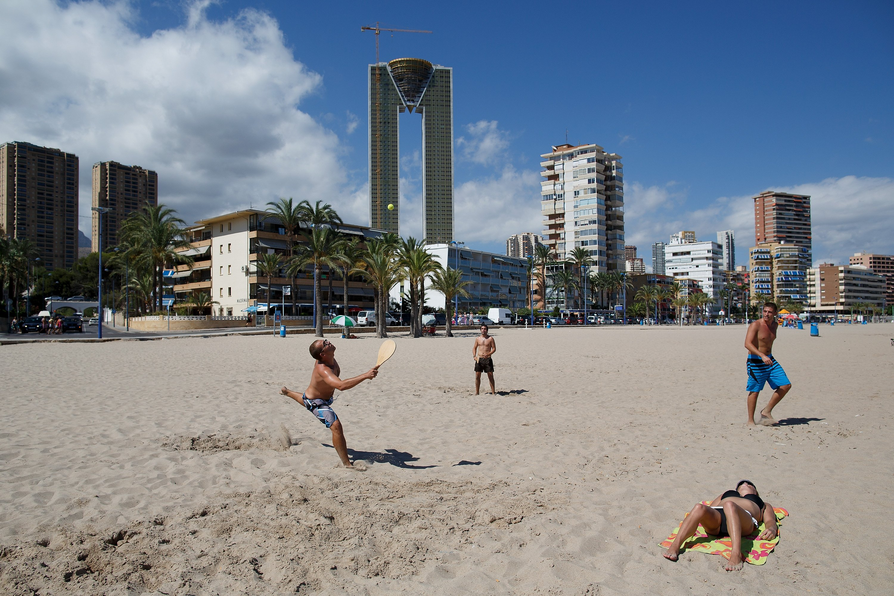 The InTempo Towers In Benidorm Remain Half Built Due To The Faltering Spanish Economy