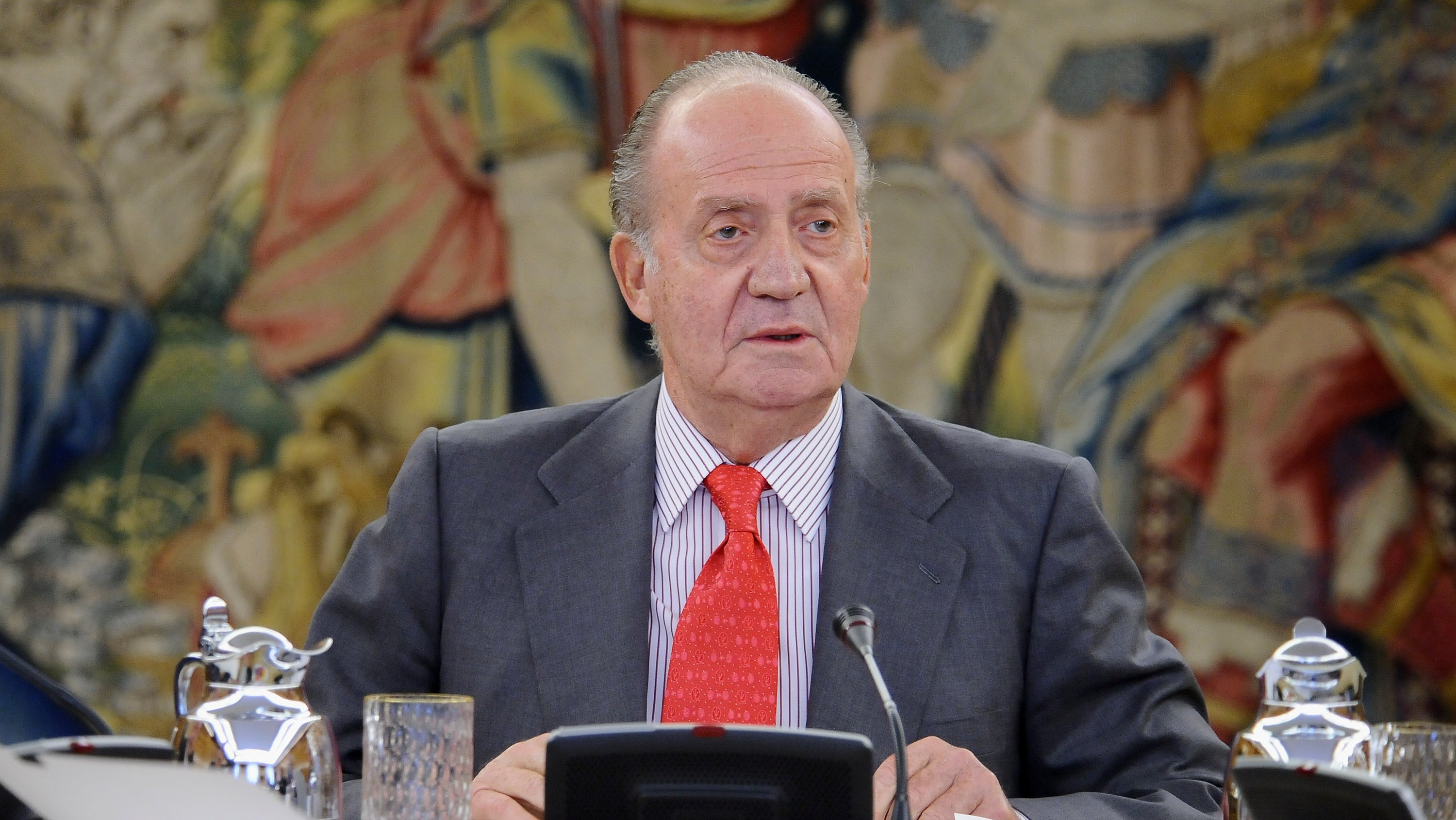 Spanish King Juan Carlos Attends an Audience with COTEC Foundation