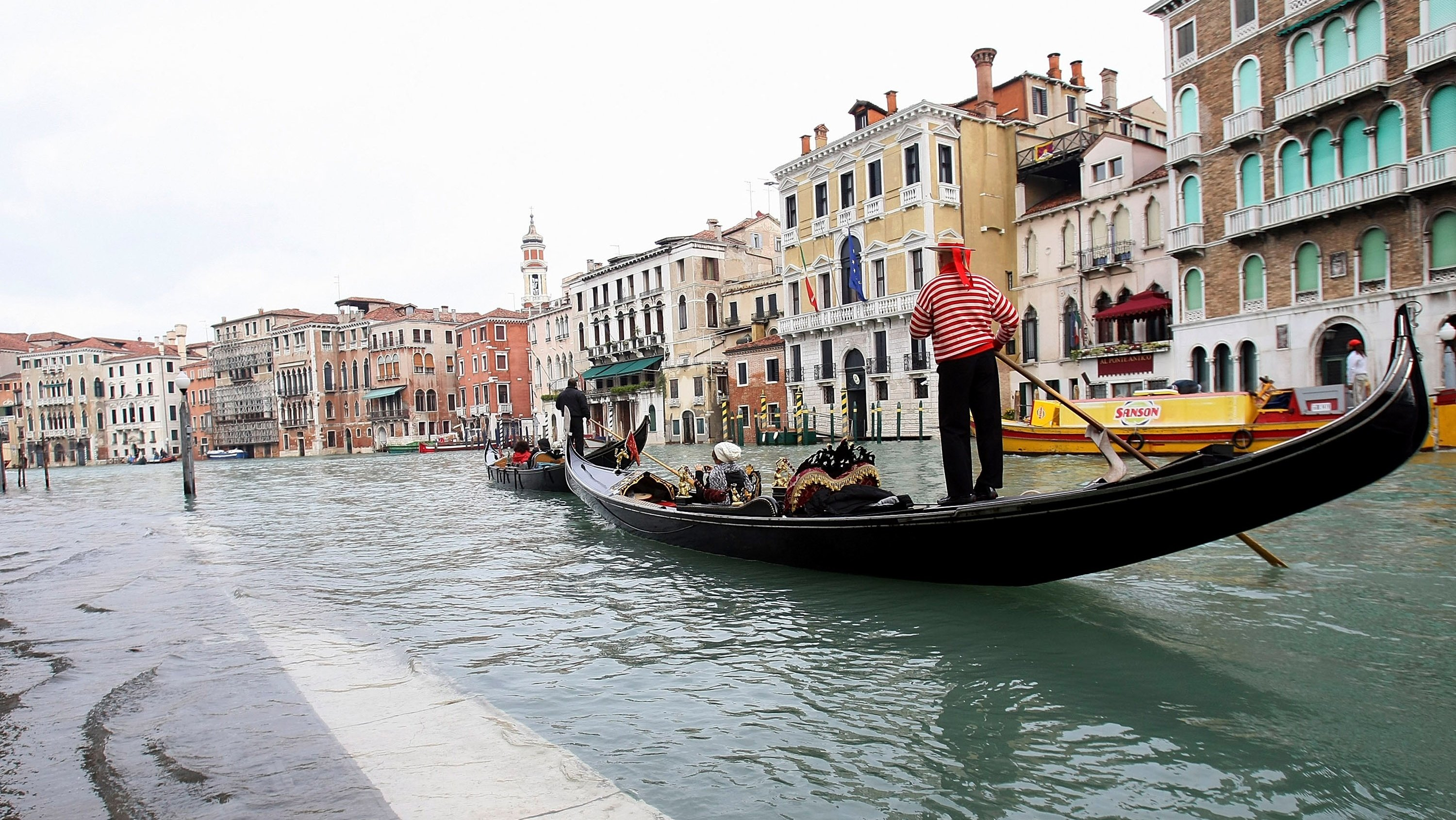 Venice Hit By Flood Waters