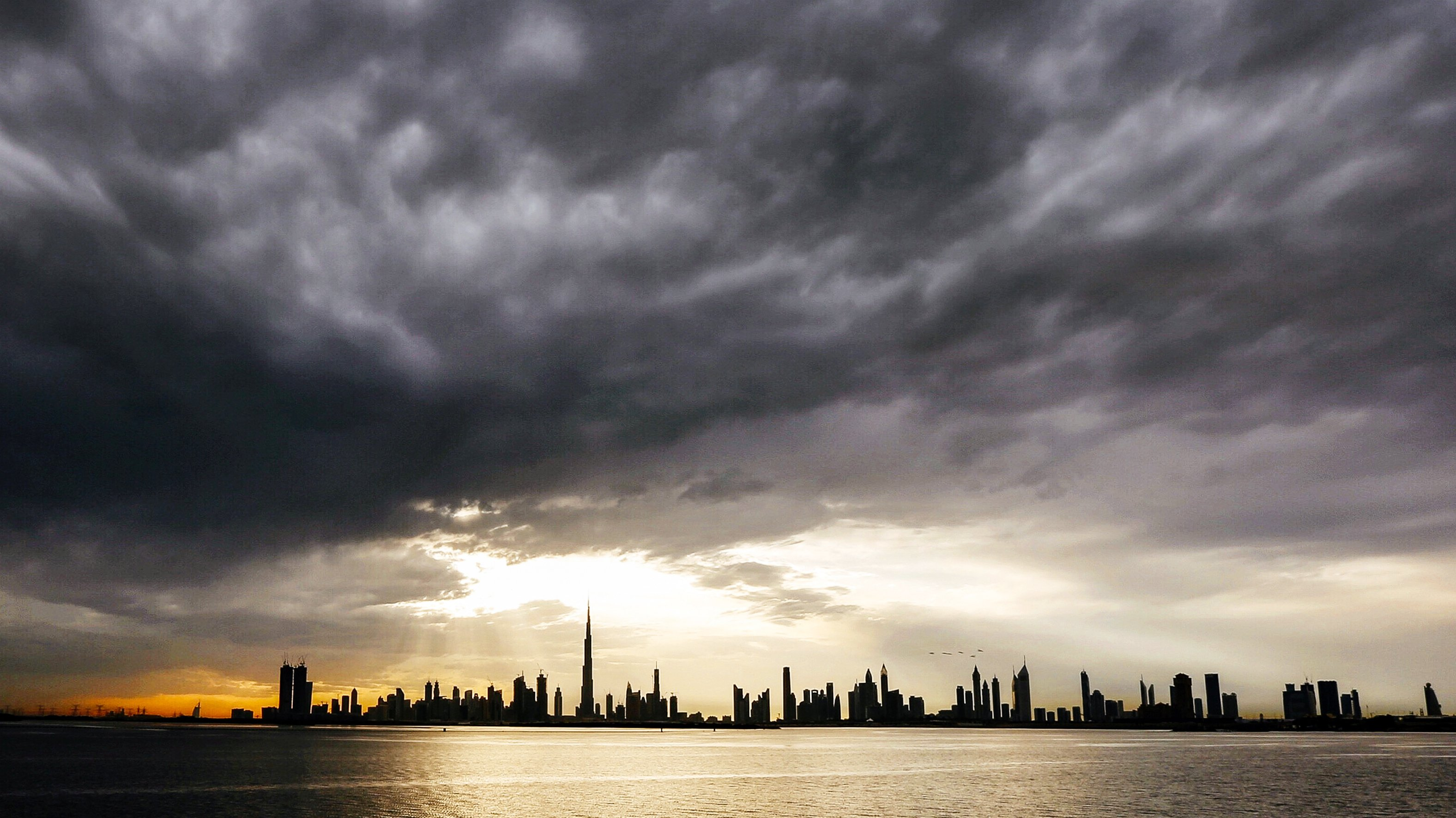 Views of the Dubai skyline in the UAE