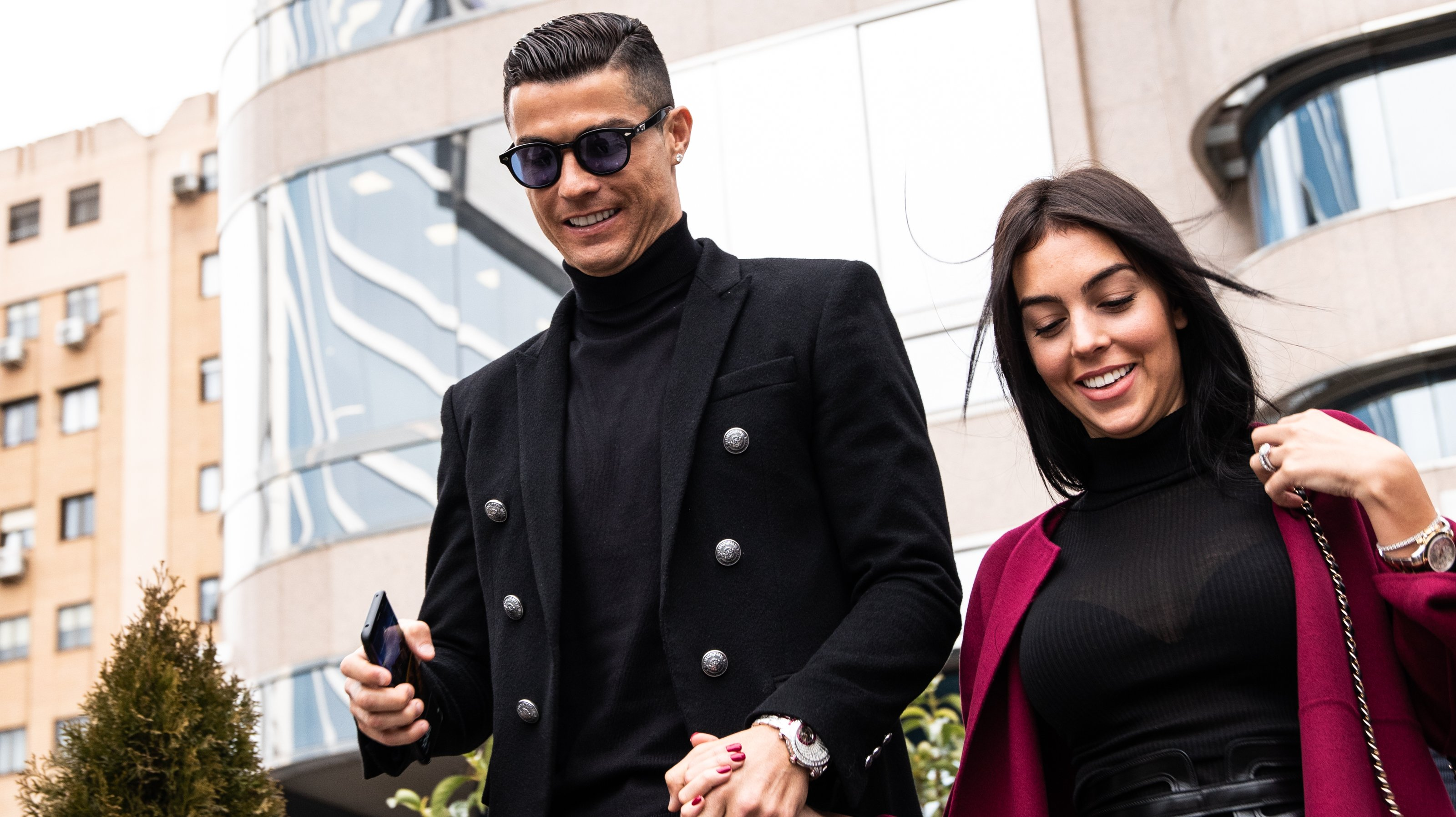 Portuguese soccer player Cristiano Ronaldo leaves from the