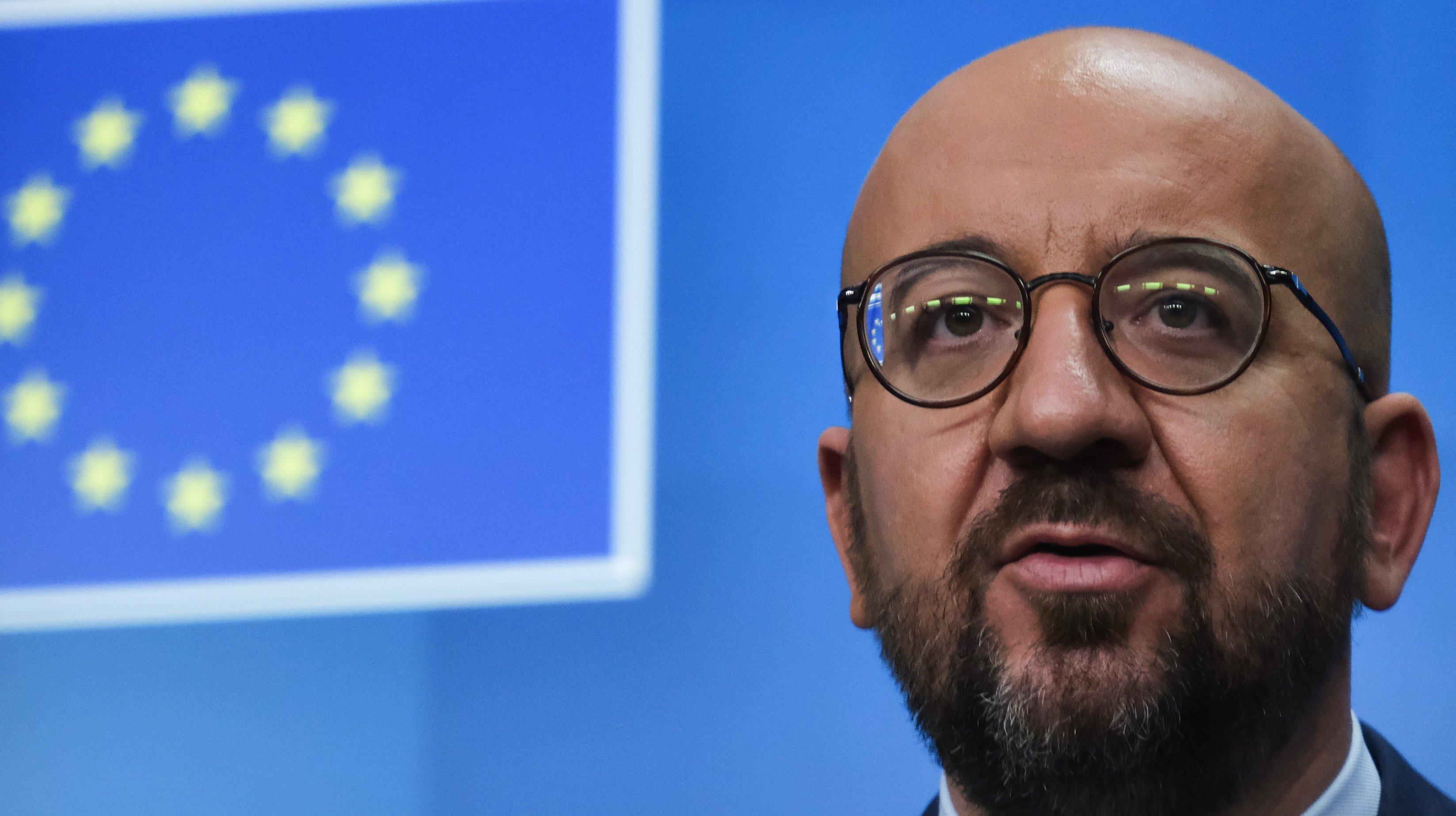 European Commission PresidentUrsula von der Leyen News Conference Following EU Leaders Meeting