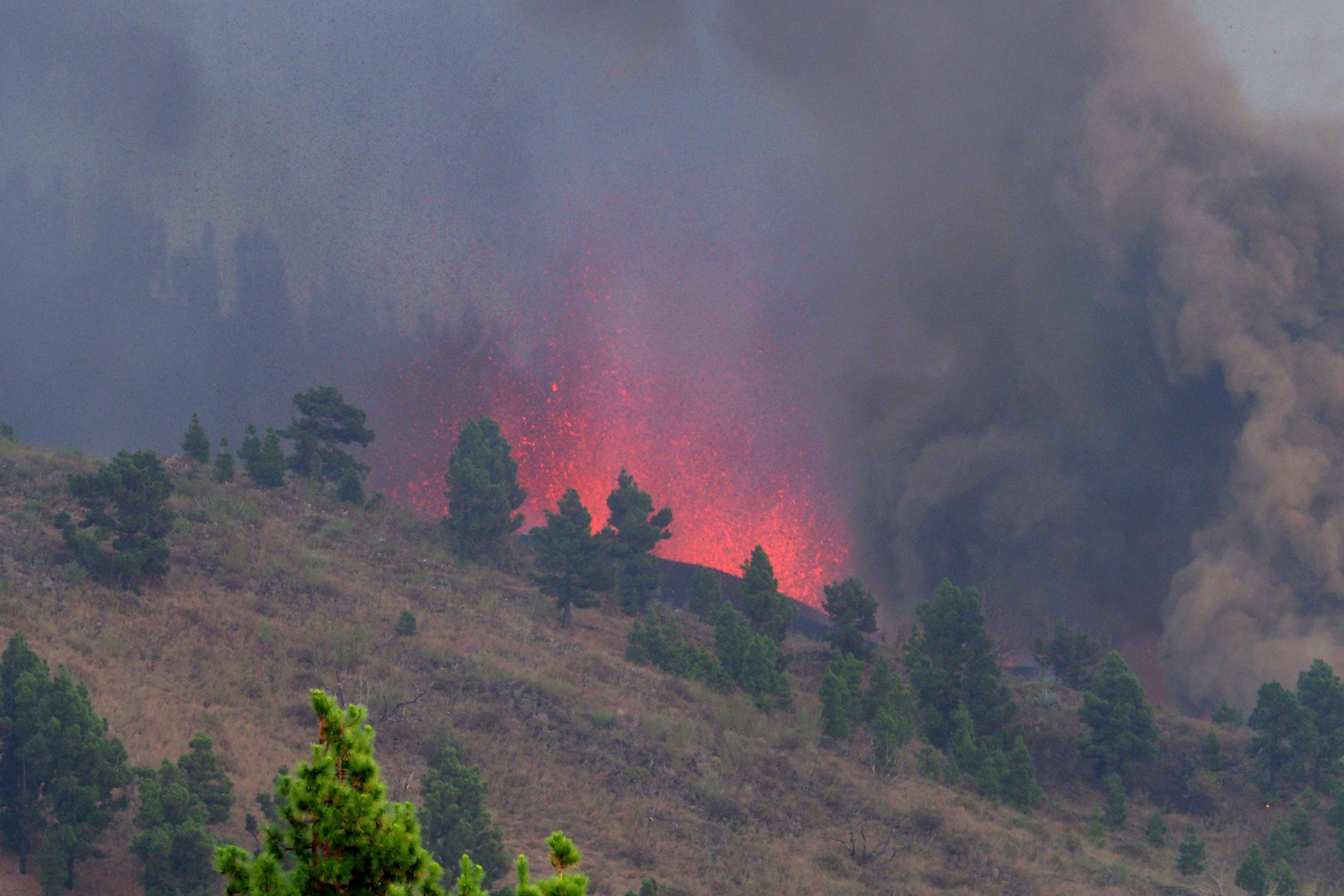 Volcanic Eruption Begins On La Palma.