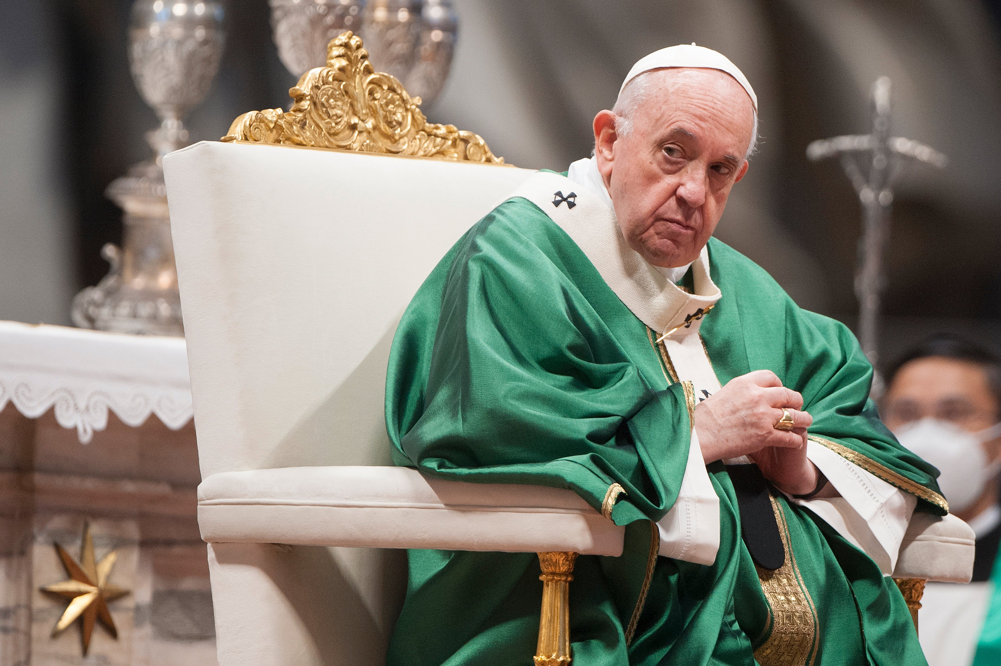 Pope Francis Leads Mass For The Synod Of Bishops Opening