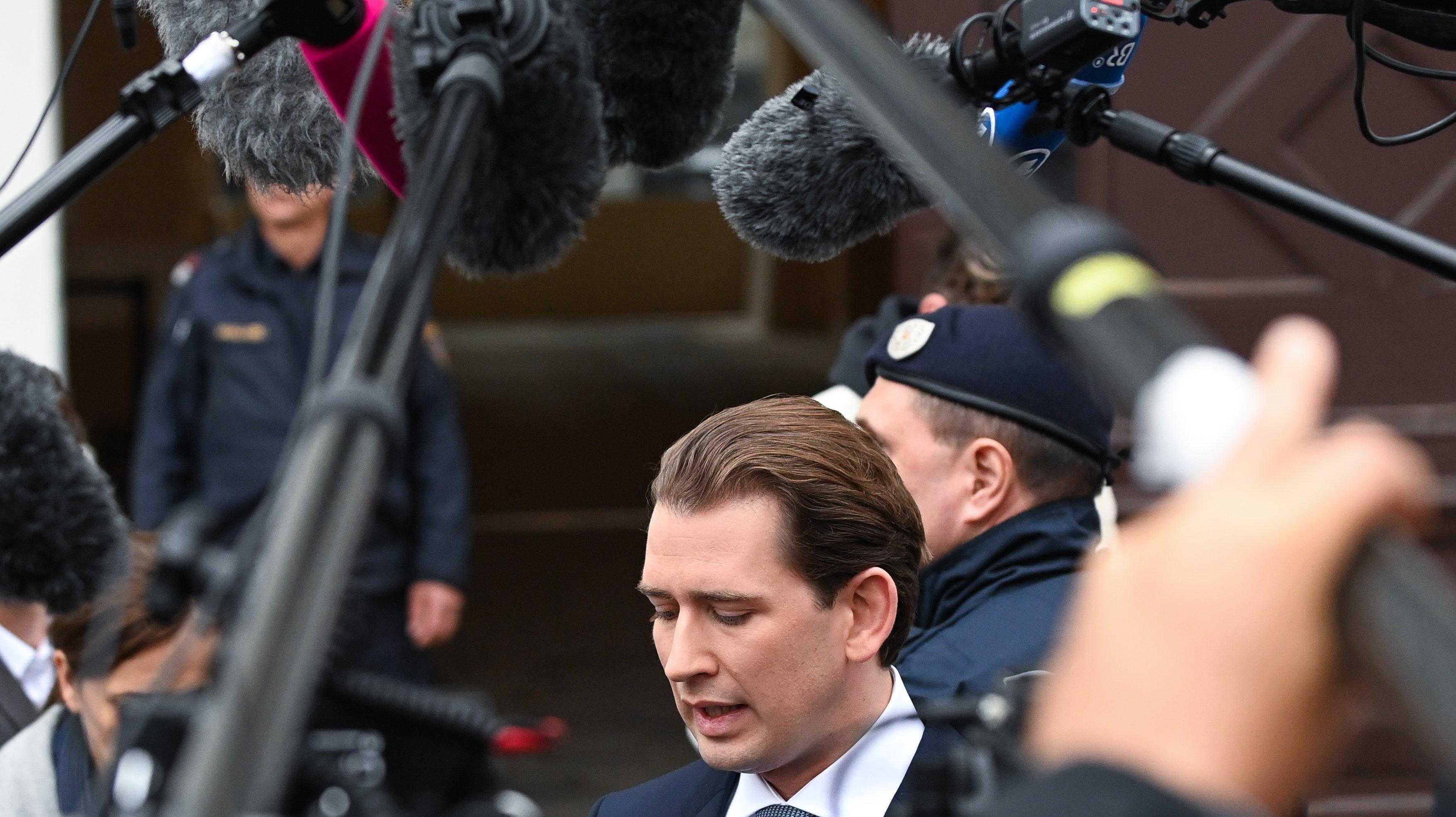 Kurz Meets With President Van Der Bellen Amid Corruption Investigation