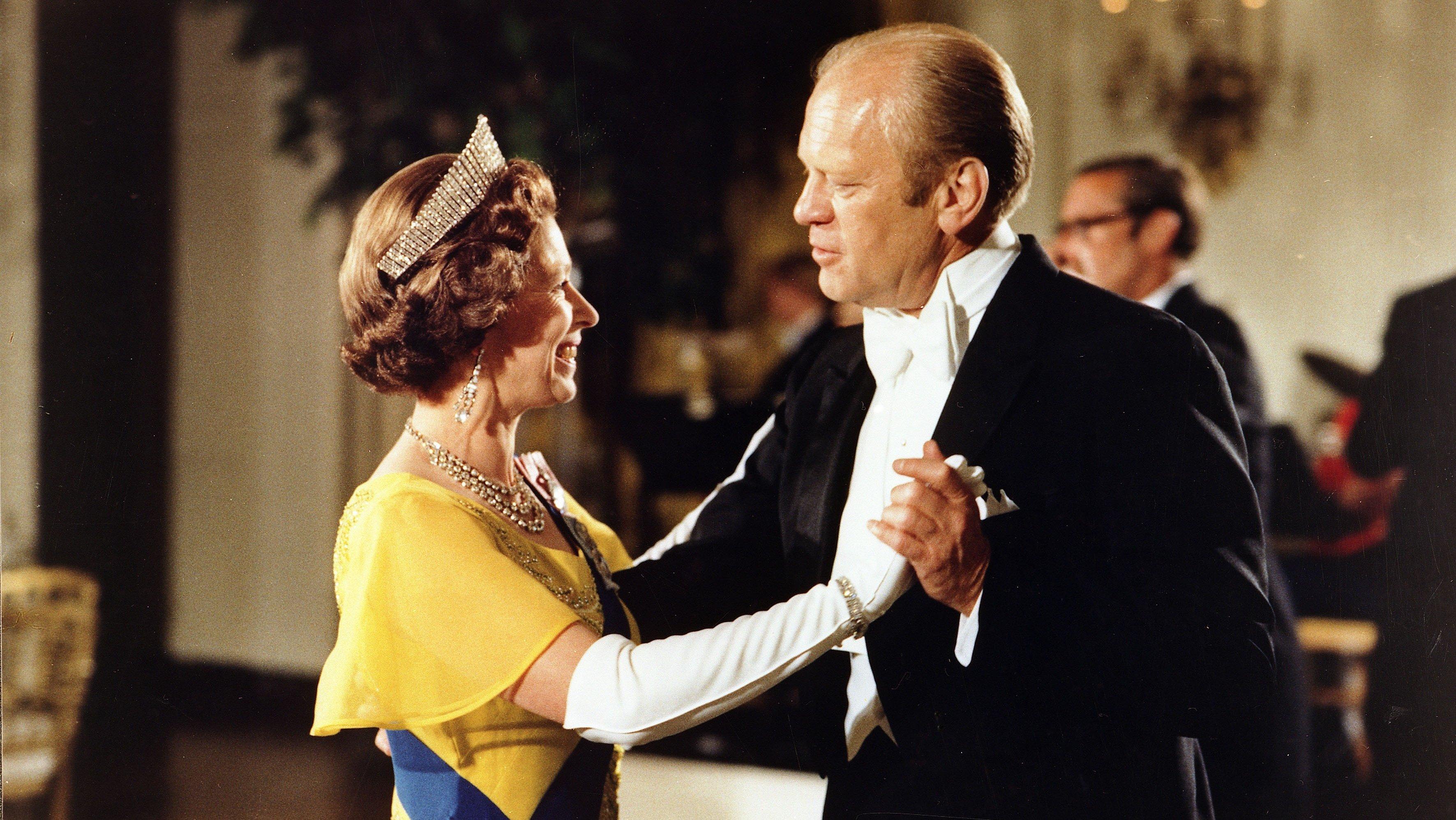 Gerald Ford and Queen Elizabeth II