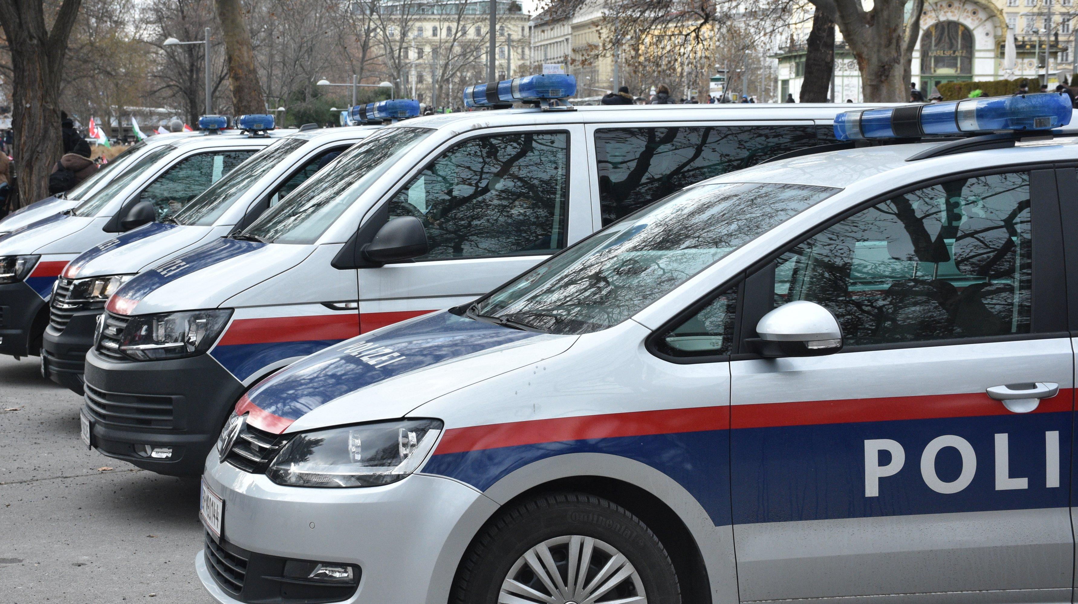 Protest in Austria against Covid-19 measures