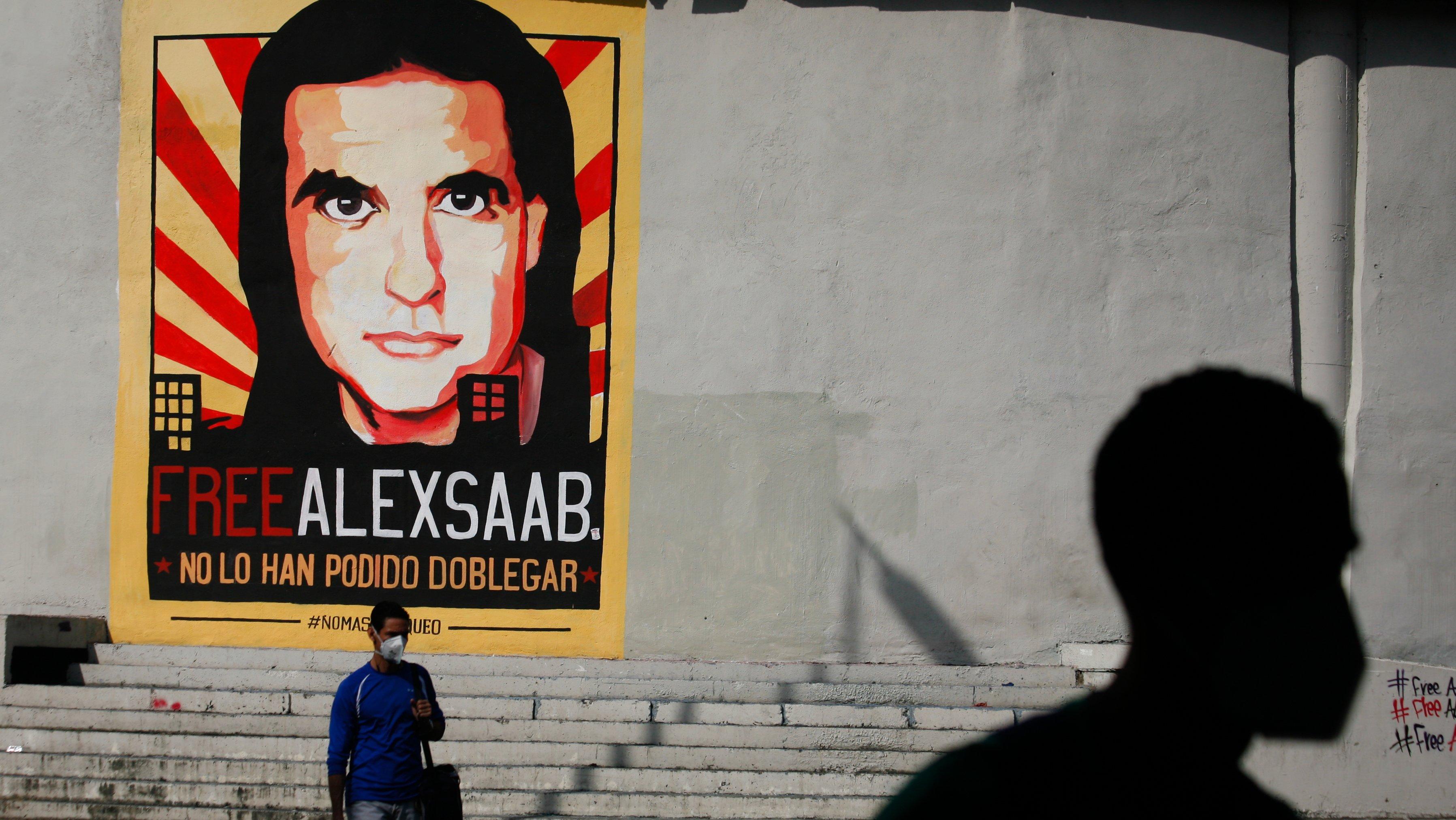Graffiti Free Alex Saab In Caracas, Venezuela