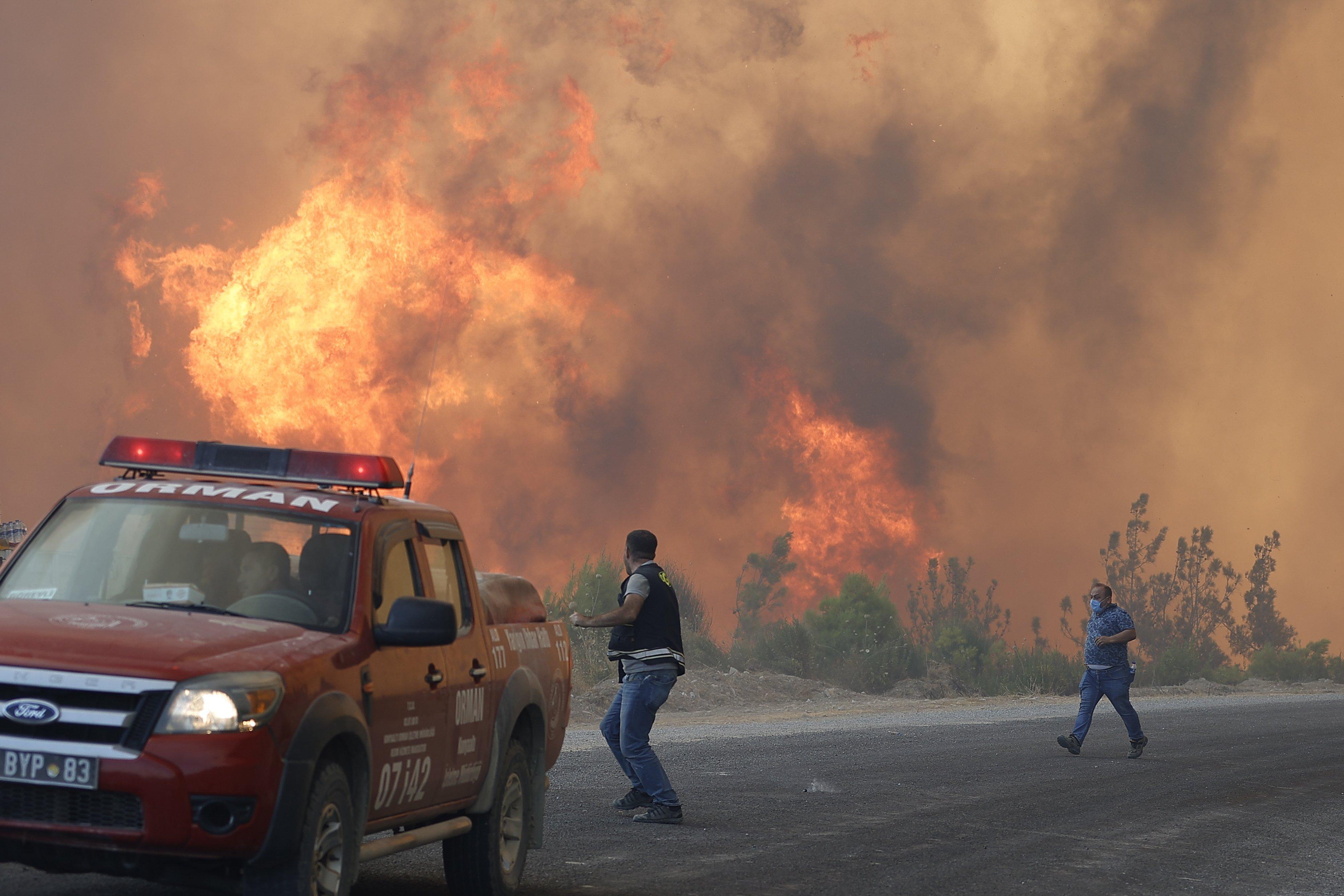 Forest fire in Turkey's Antalya