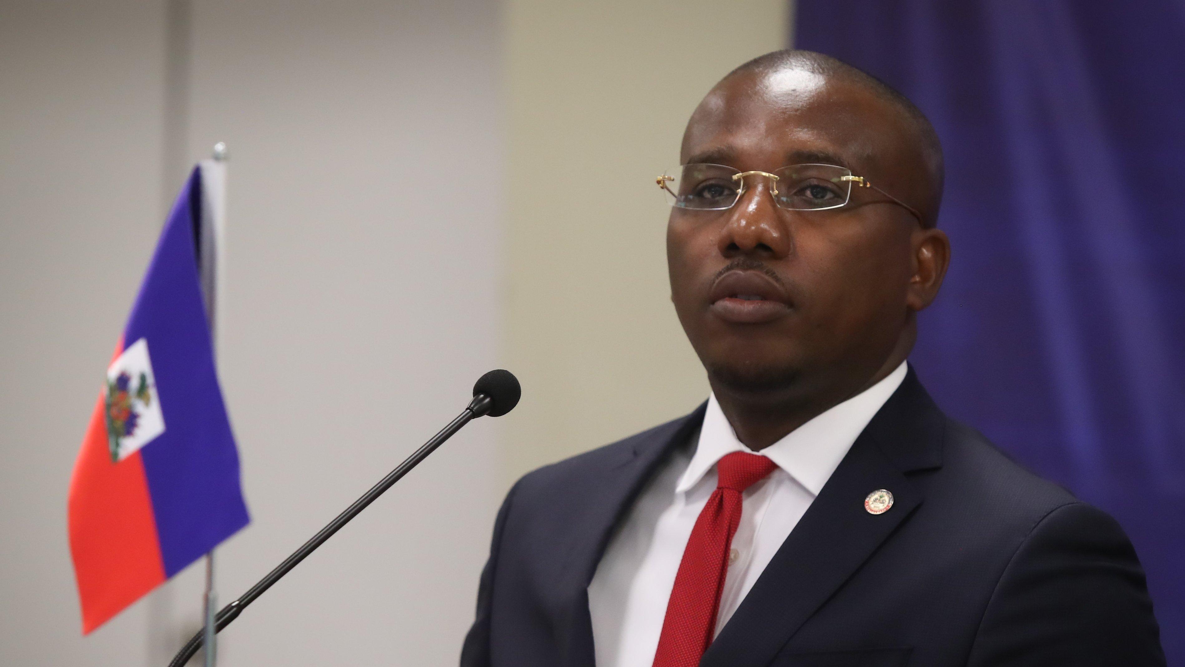 Turkish Foreign Minister Mevlut Cavusoglu in Haiti