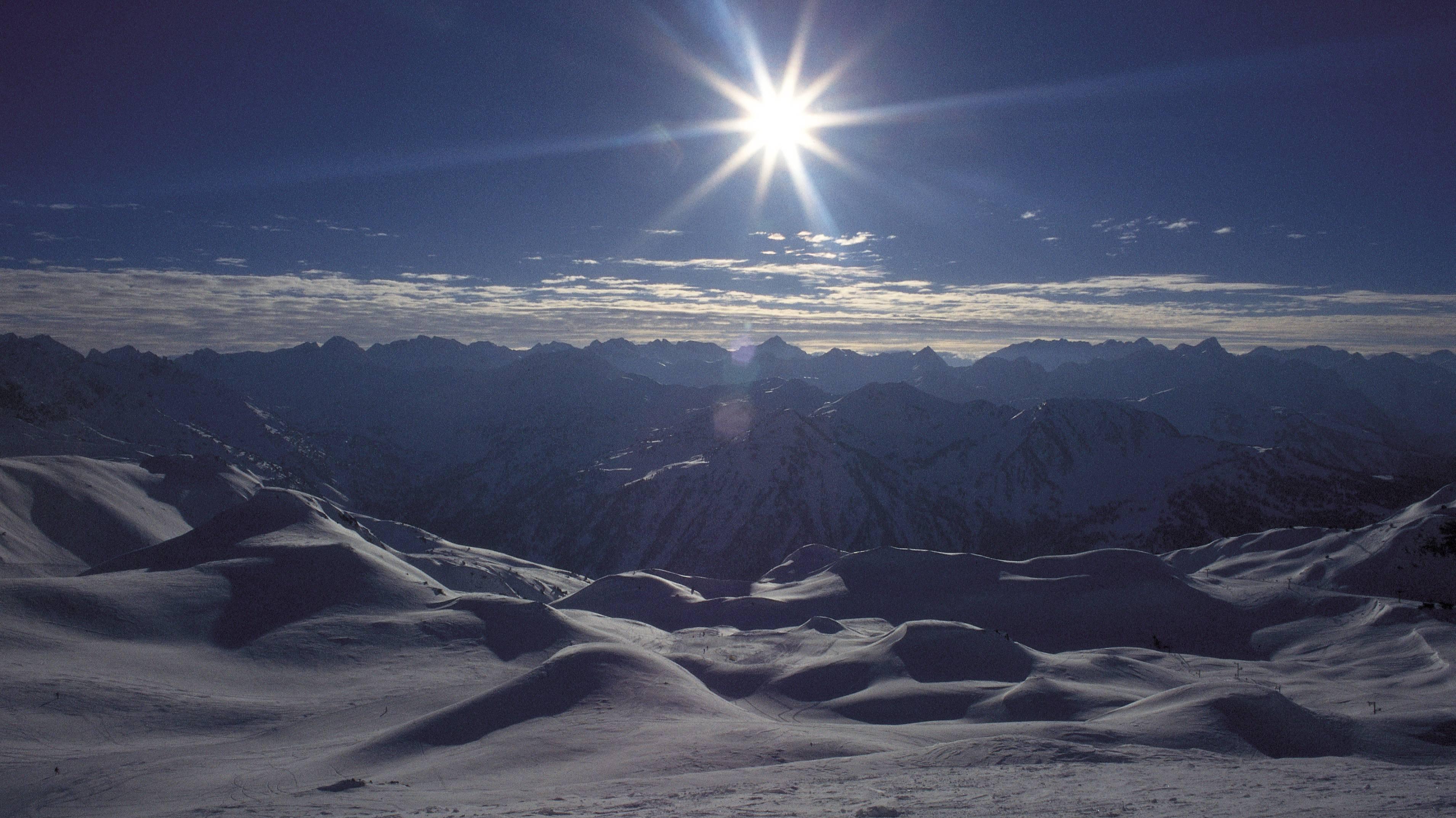 Baqueira Beret ski resort Panoramic view of the Baqueira Beret ski resort