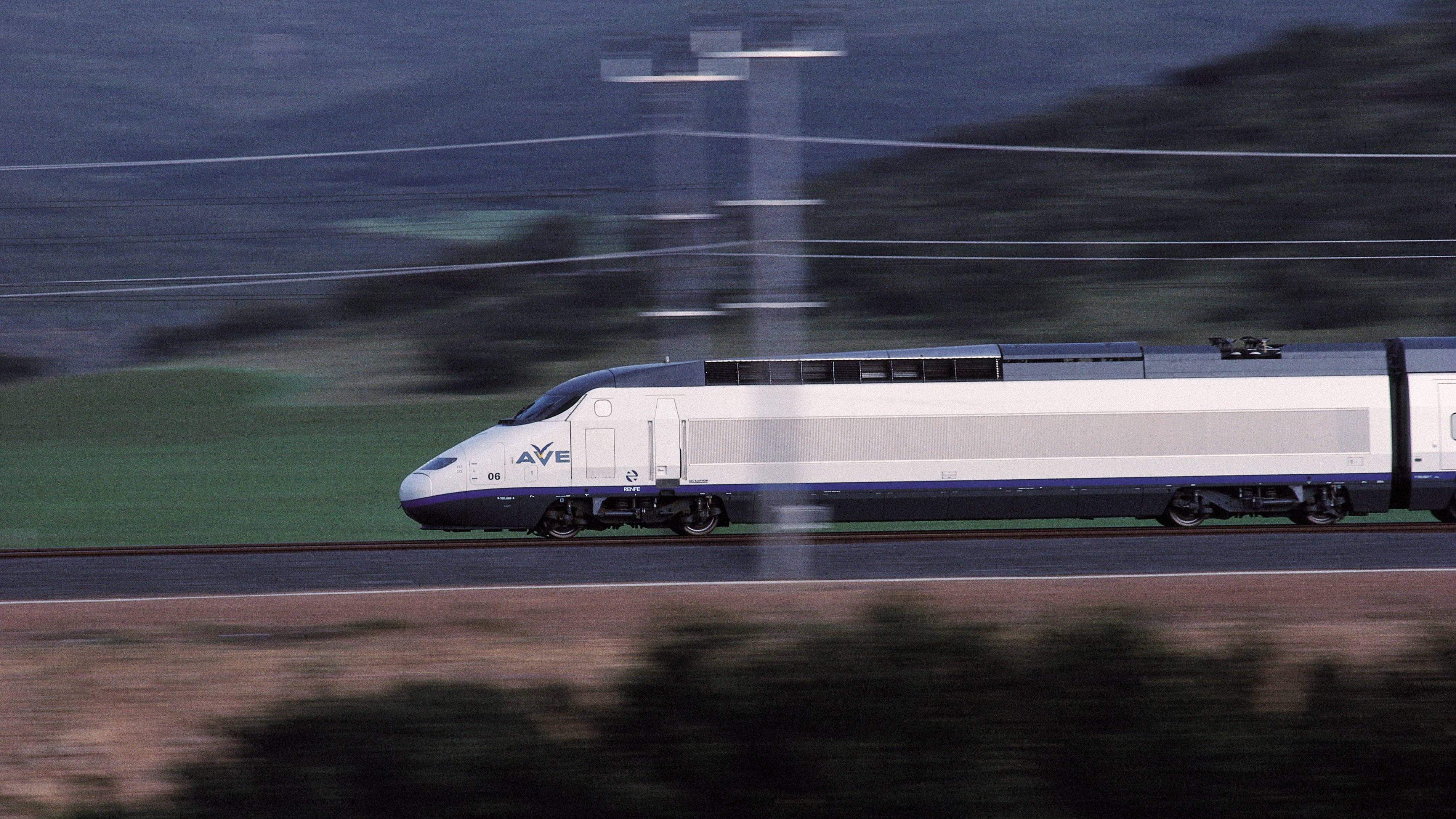 AVE, high-speed train AVE, high-speed train, circulating for a railroad