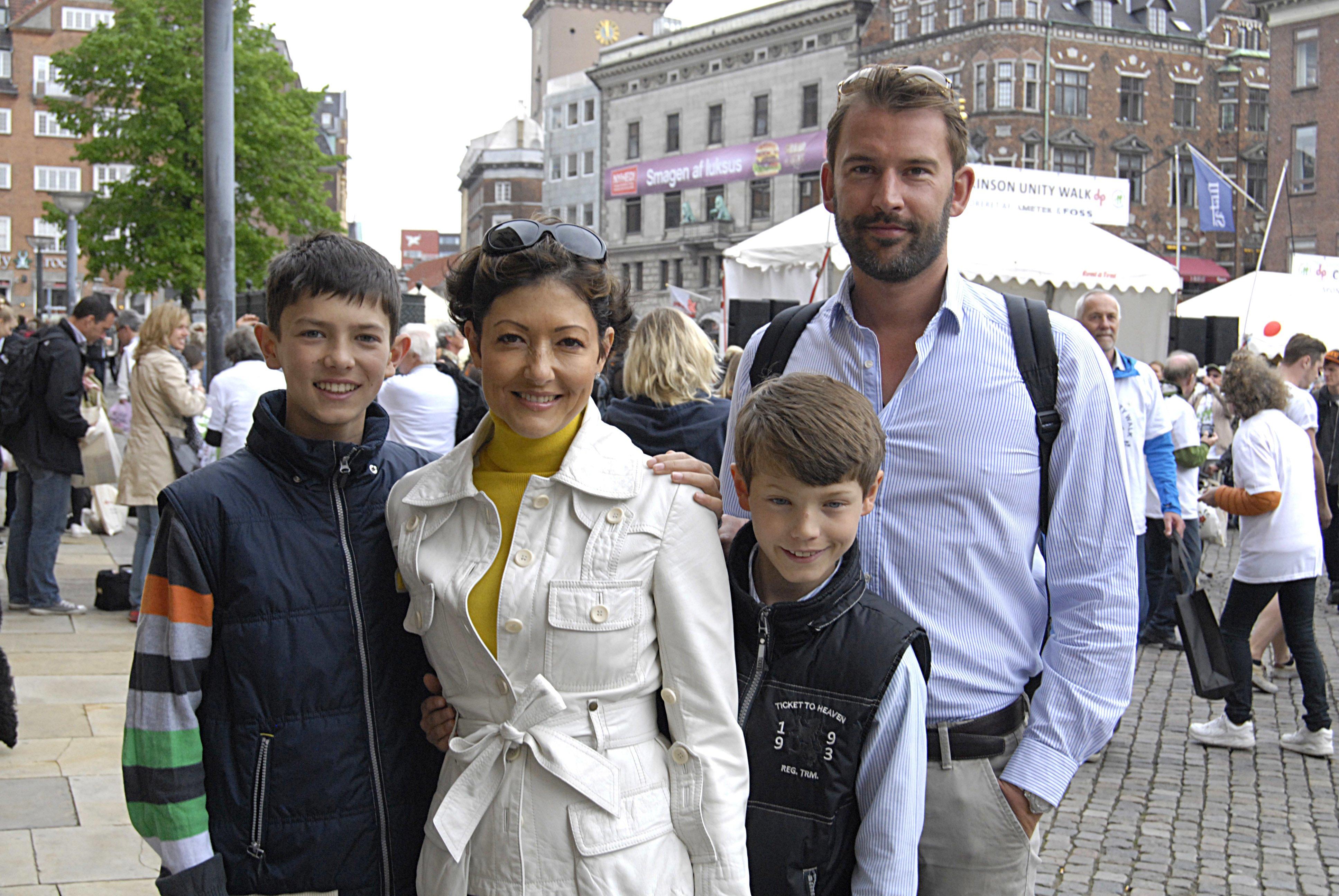 Countess Alexandra of Frederiskborg,prince Nikolai prince felix and Martin Jorgensen parkinson unity