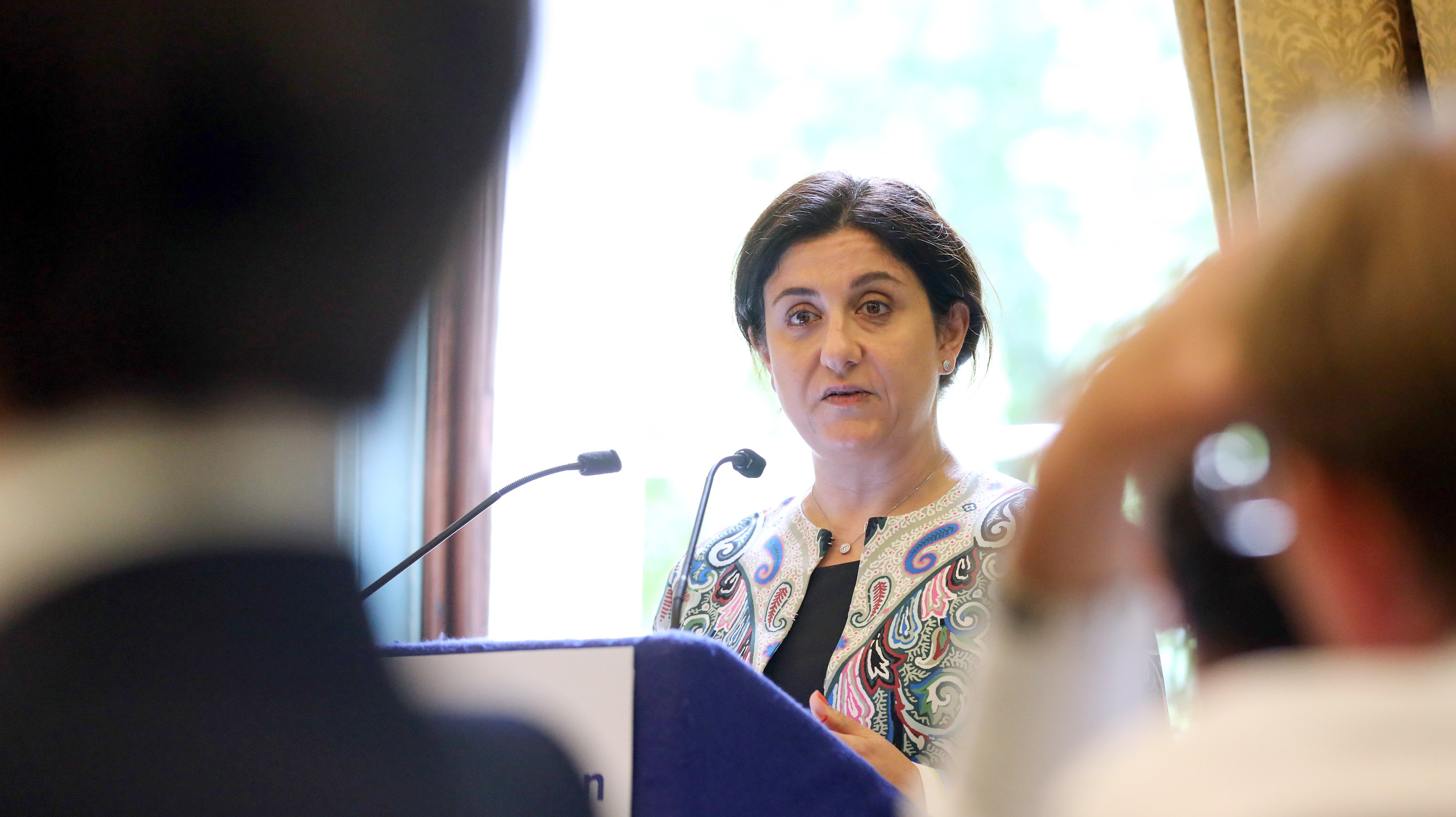 Flybe Group Plc Chief Executive Officer Christine Ourmieres-Widener Speaks At Aviation Club Lunch