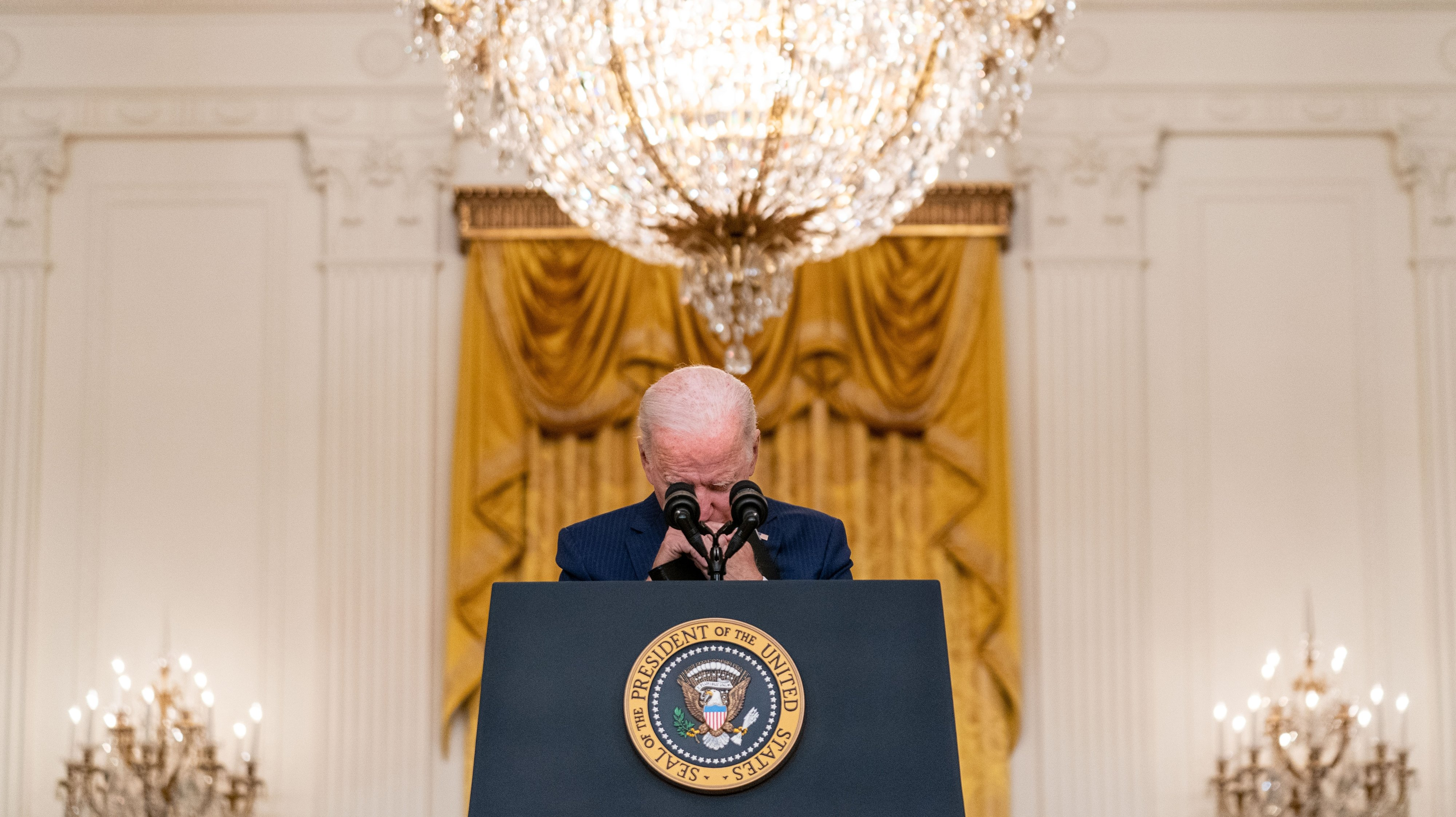 President Joe Biden delivers remarks on Evacuation Progrss in Afghanistan
