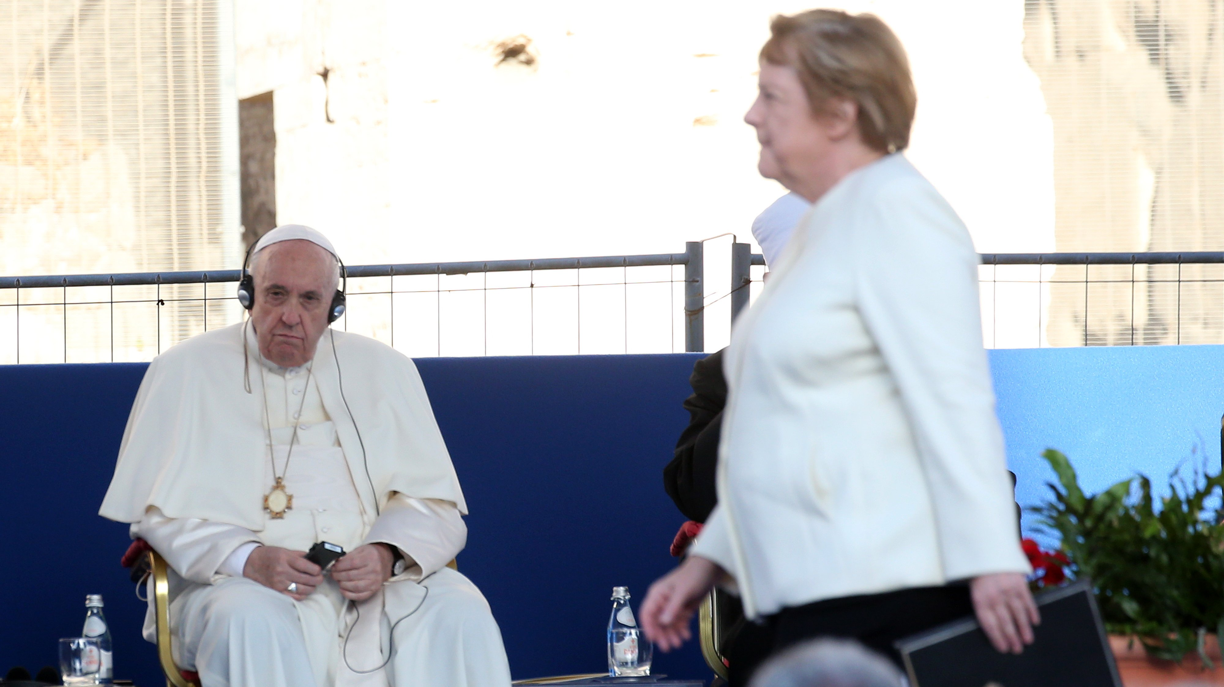 Pope Leads A Prayer For Peace At The Colosseum